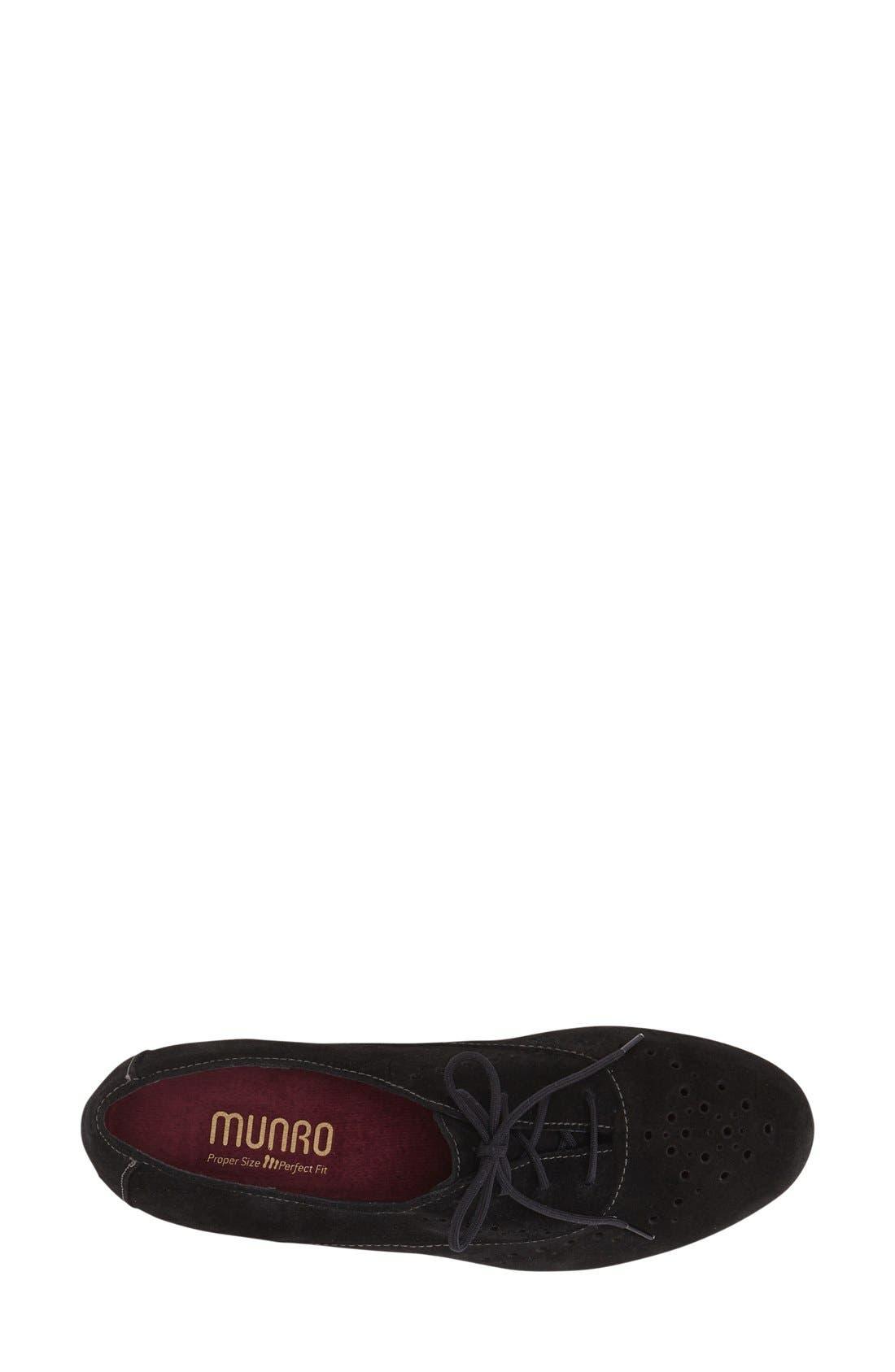 'Wellesley' Oxford Sneaker,                             Alternate thumbnail 2, color,                             BLACK SUEDE