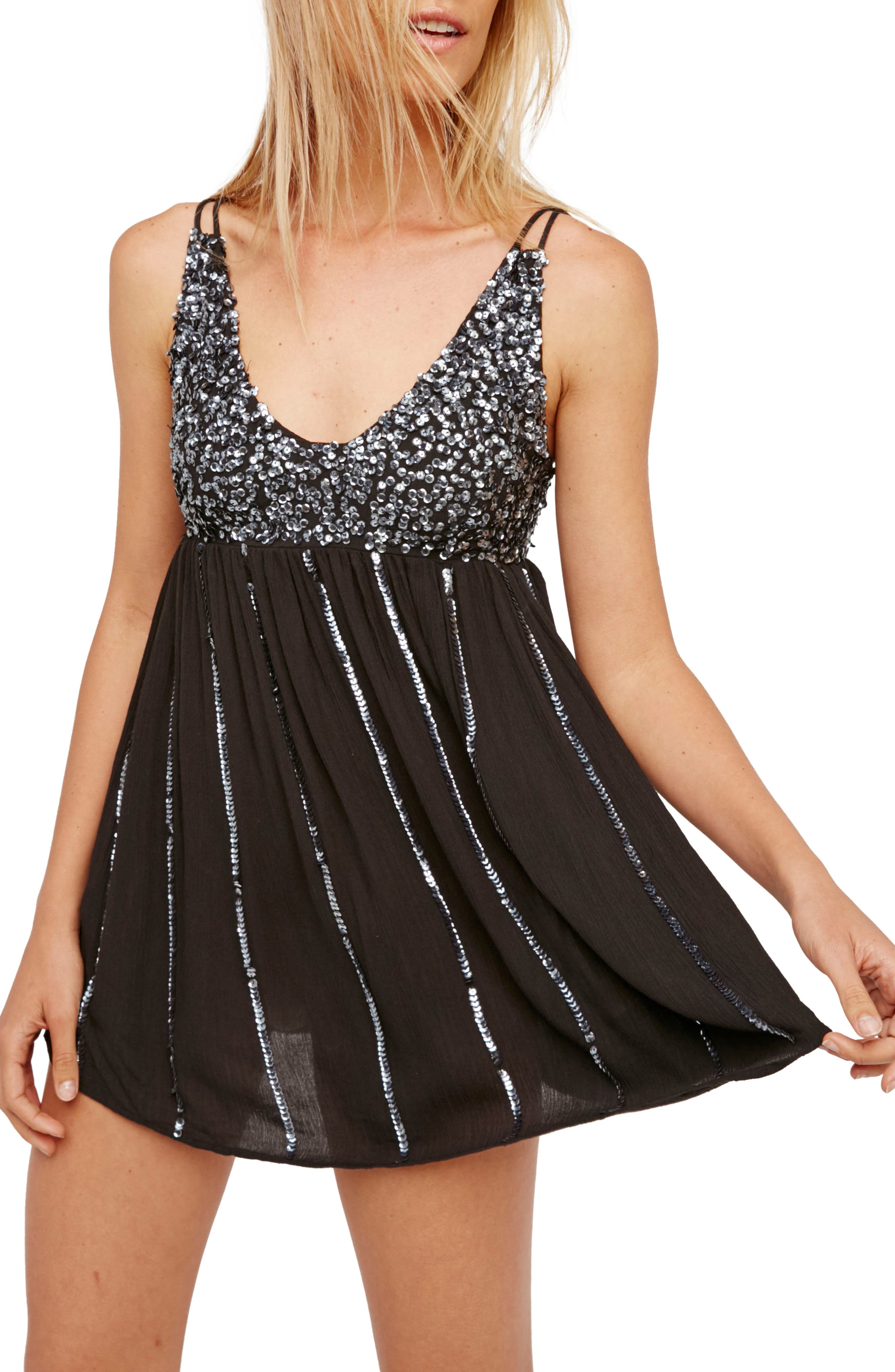 Glitter Girl Minidress, Main, color, 001