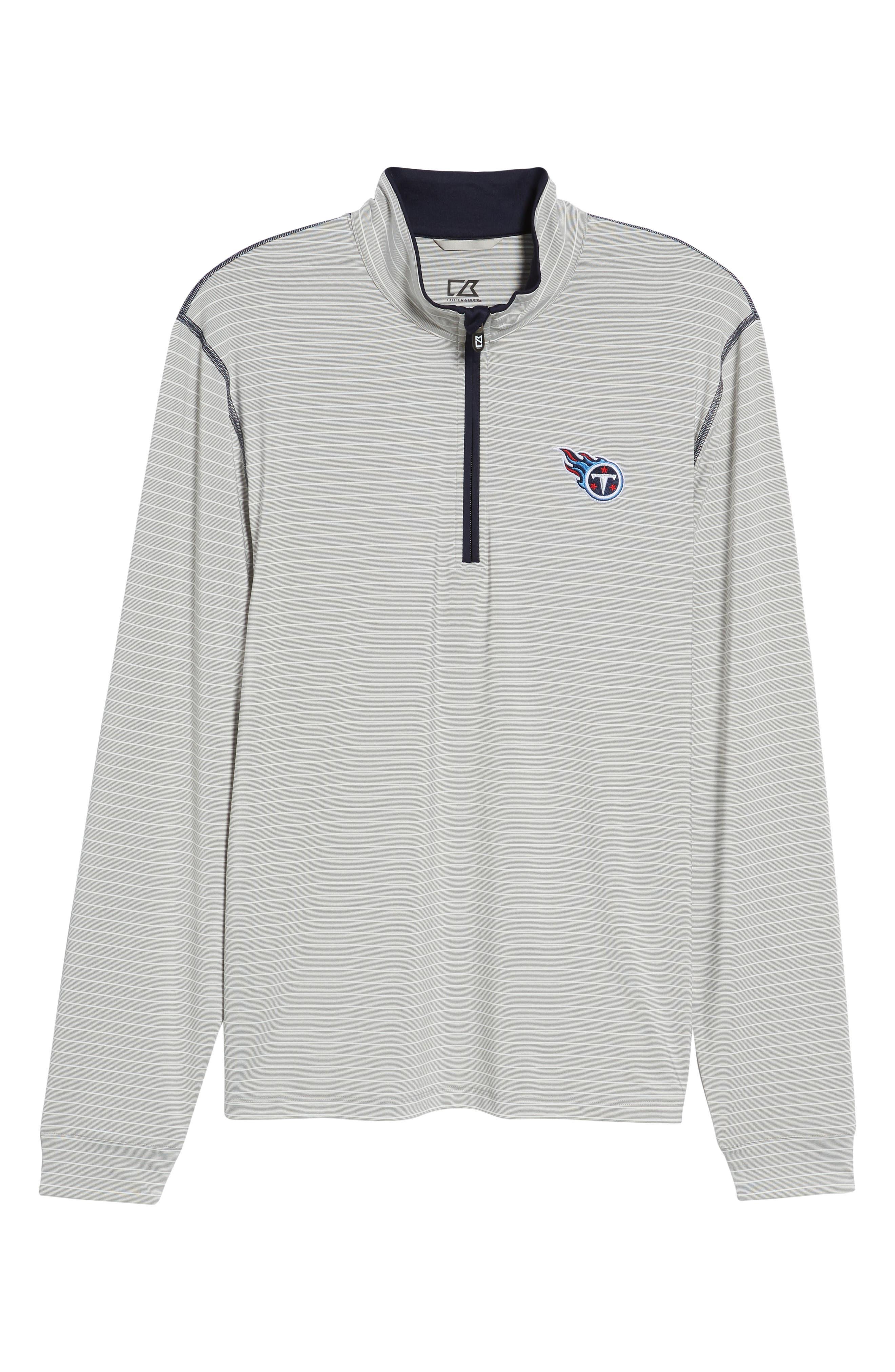 Meridian - Tennessee Titans Regular Fit Half Zip Pullover,                             Alternate thumbnail 6, color,                             NAVY