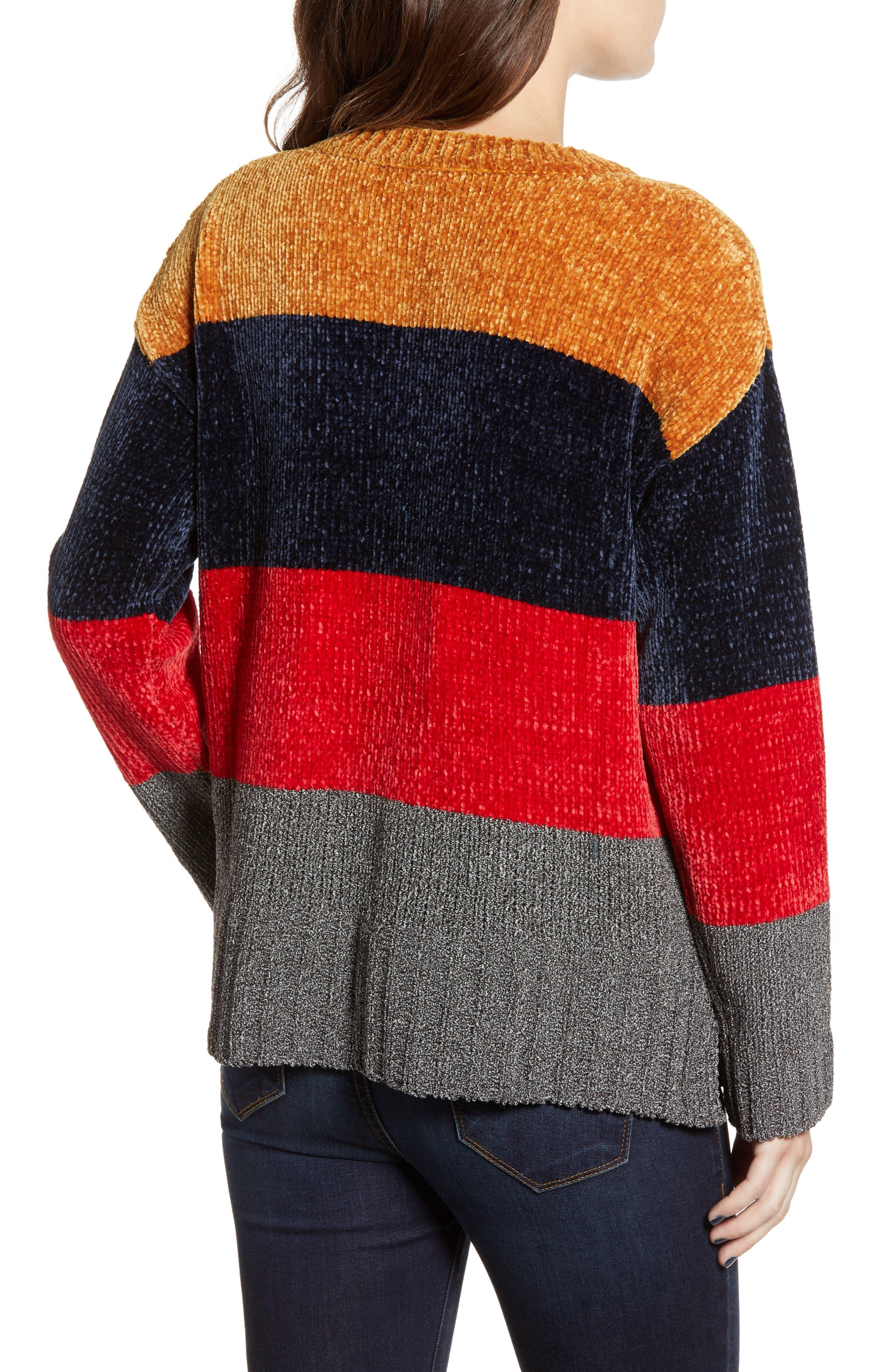 COTTON EMPORIUM,                             Stripe Chenille Sweater,                             Alternate thumbnail 2, color,                             710