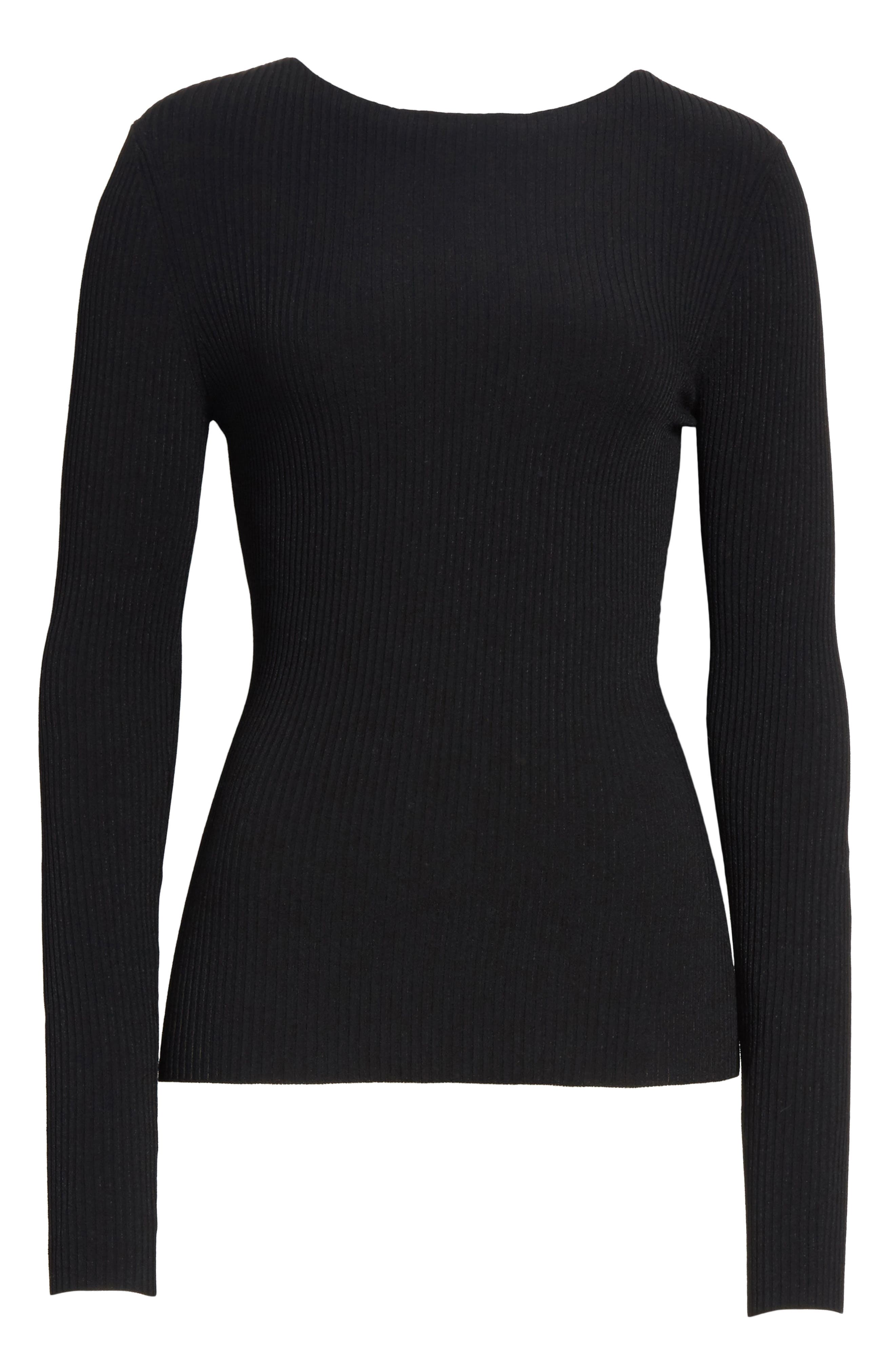 Boat Neck Ribbed Top,                             Alternate thumbnail 11, color,