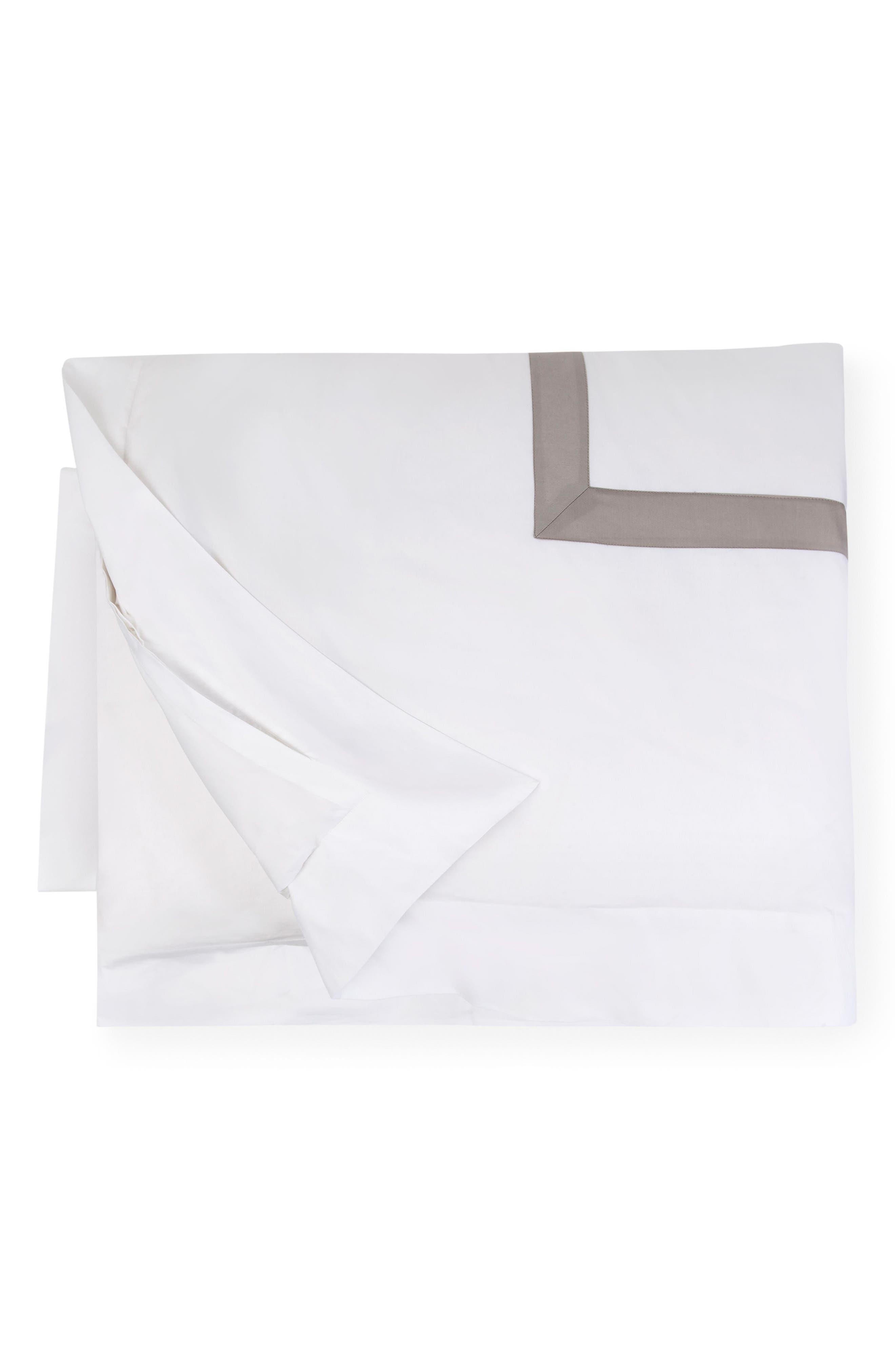 Orlo Duvet Cover,                         Main,                         color, WHITE/ GREY