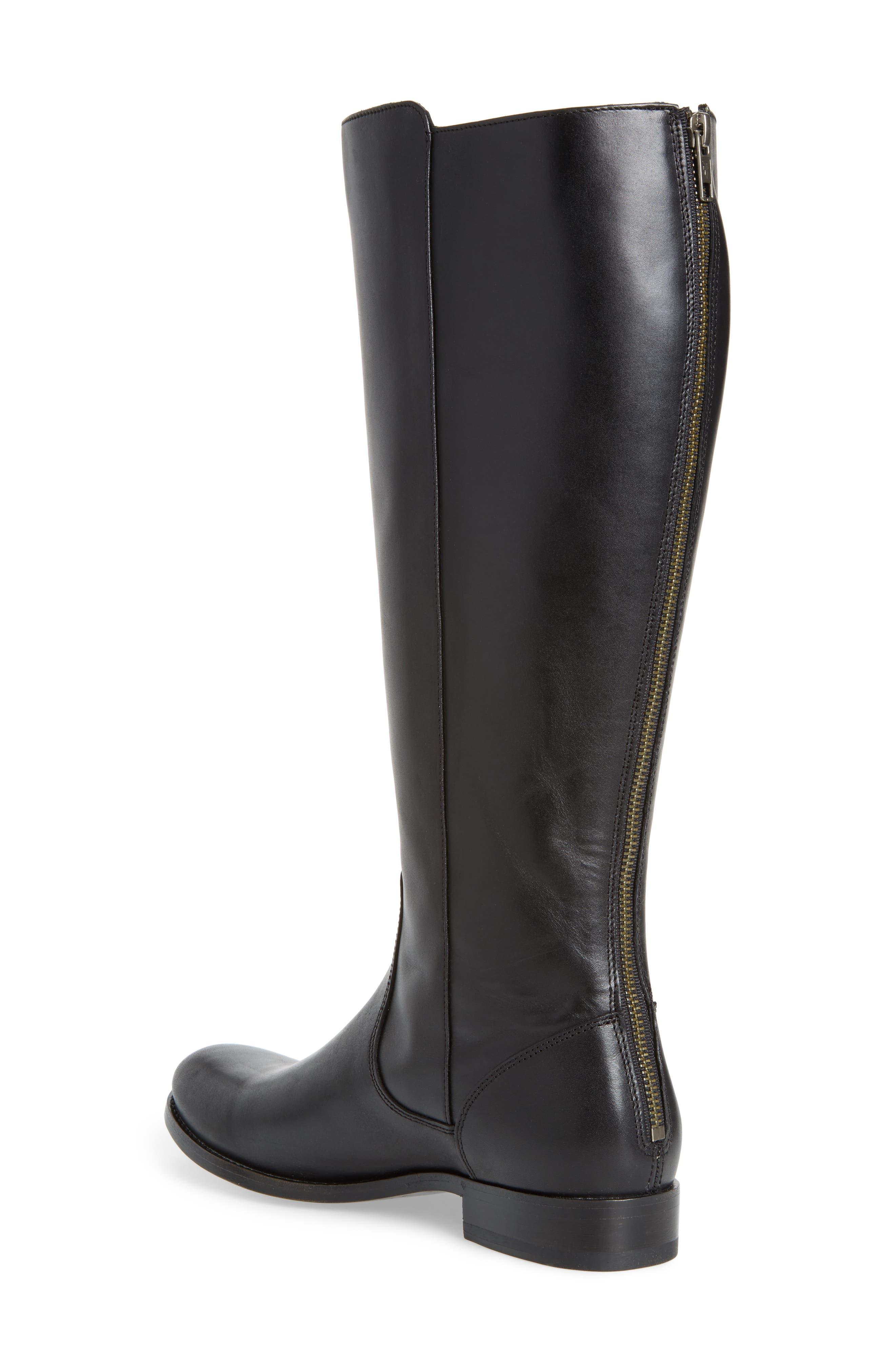 Melissa Stud Knee High Boot,                             Alternate thumbnail 2, color,                             015