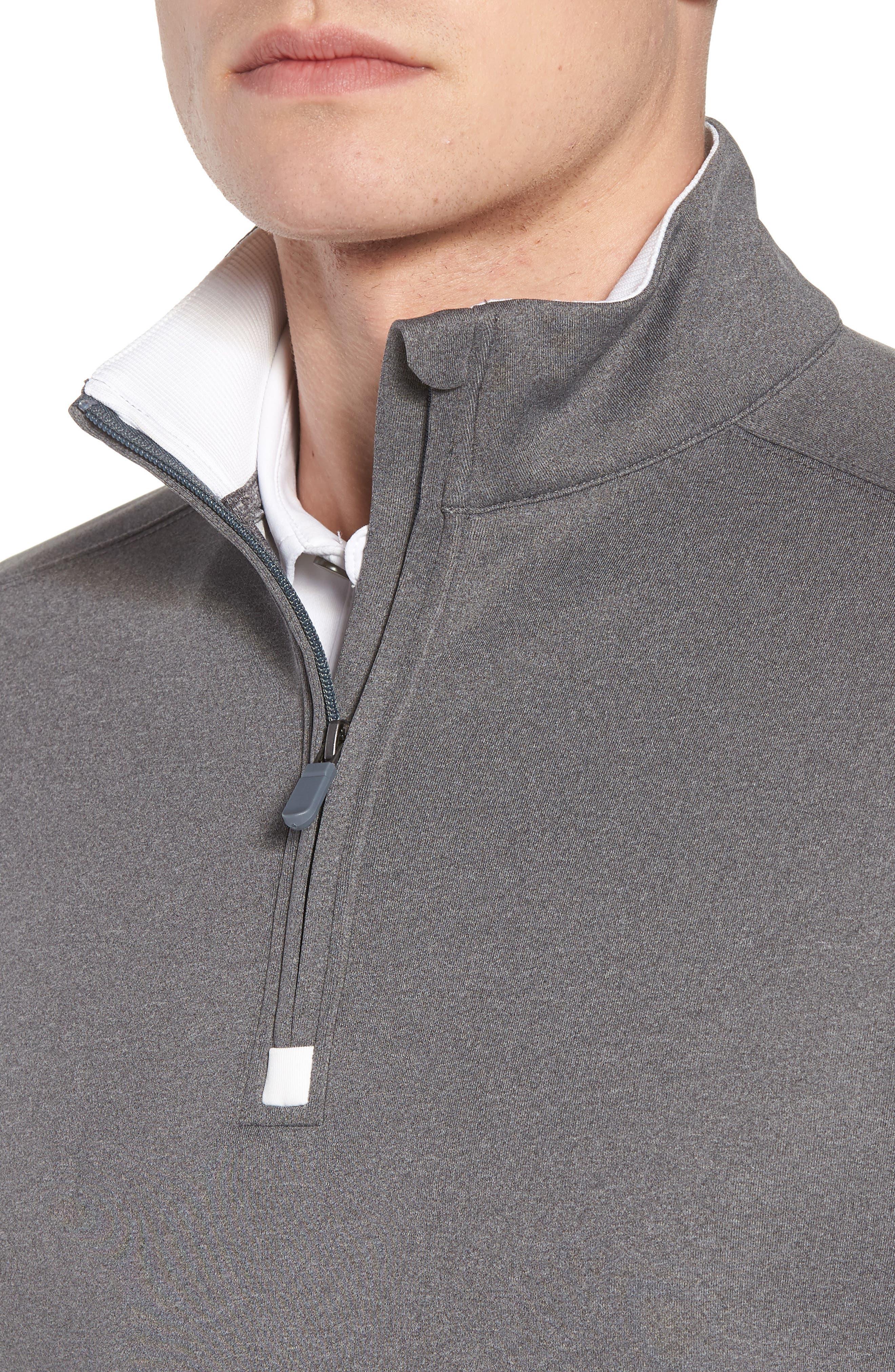 Quarter Zip Tech Vest,                             Alternate thumbnail 4, color,                             GRAPHITE HEATHER