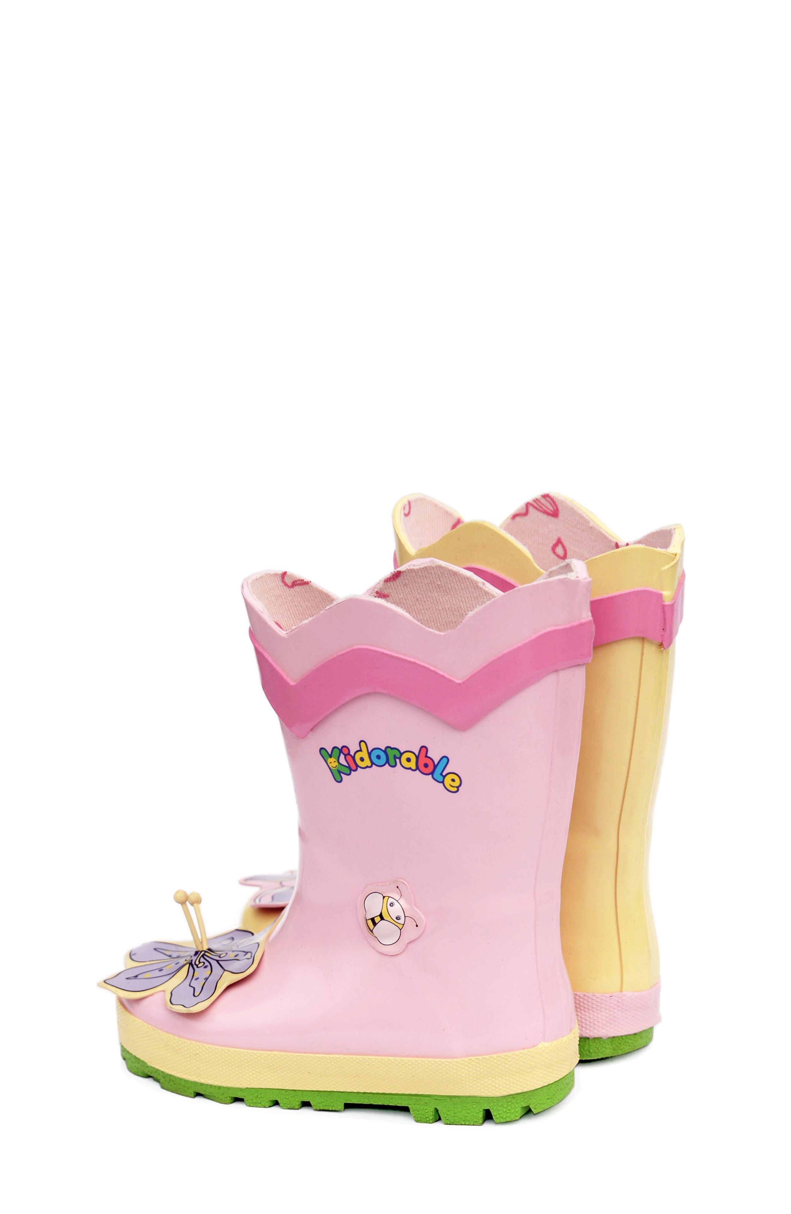'Lotus' Waterproof Rain Boot,                             Alternate thumbnail 3, color,                             650