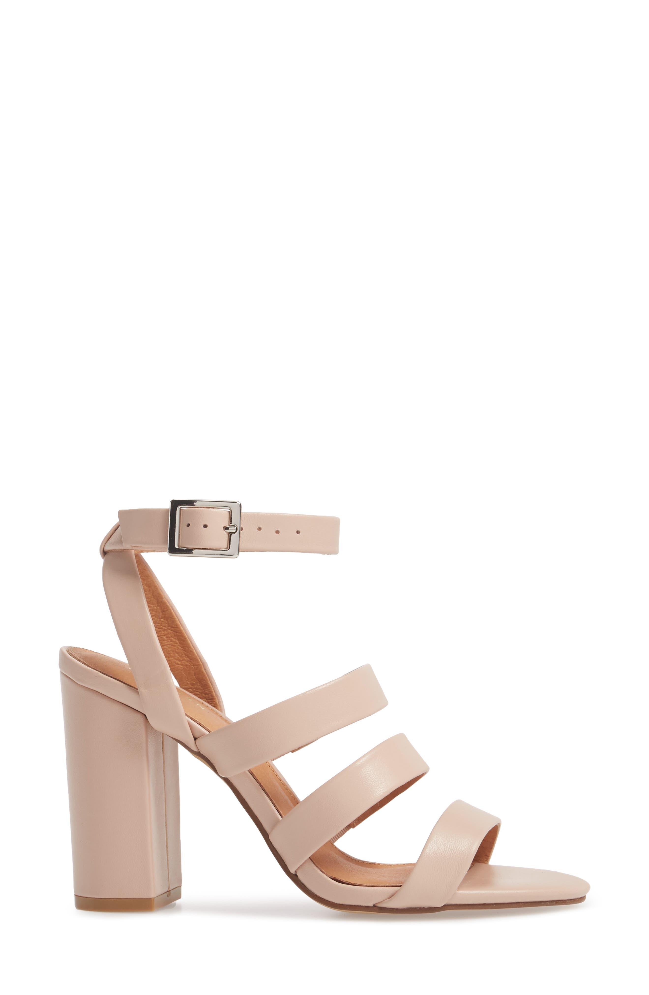 Rocco Sandal,                             Alternate thumbnail 3, color,                             BLUSH LEATHER