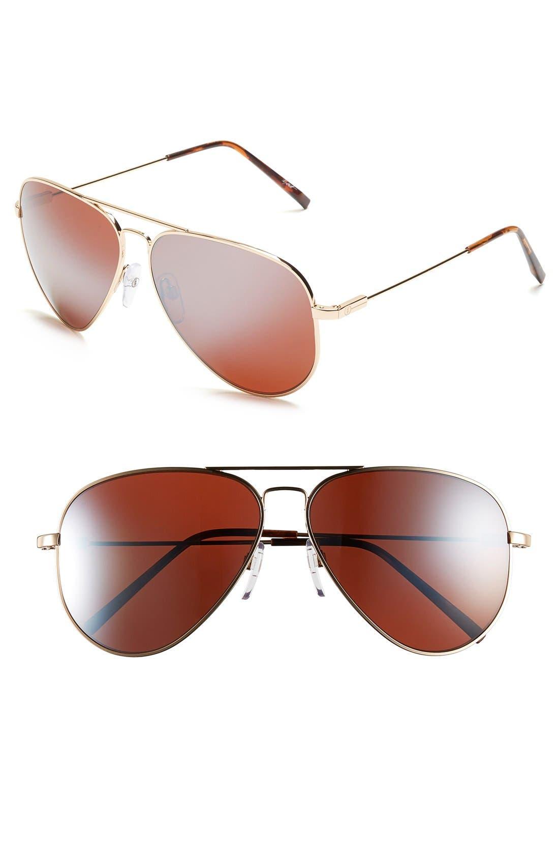 'AV1 XL' 62mm Aviator Sunglasses,                             Main thumbnail 4, color,