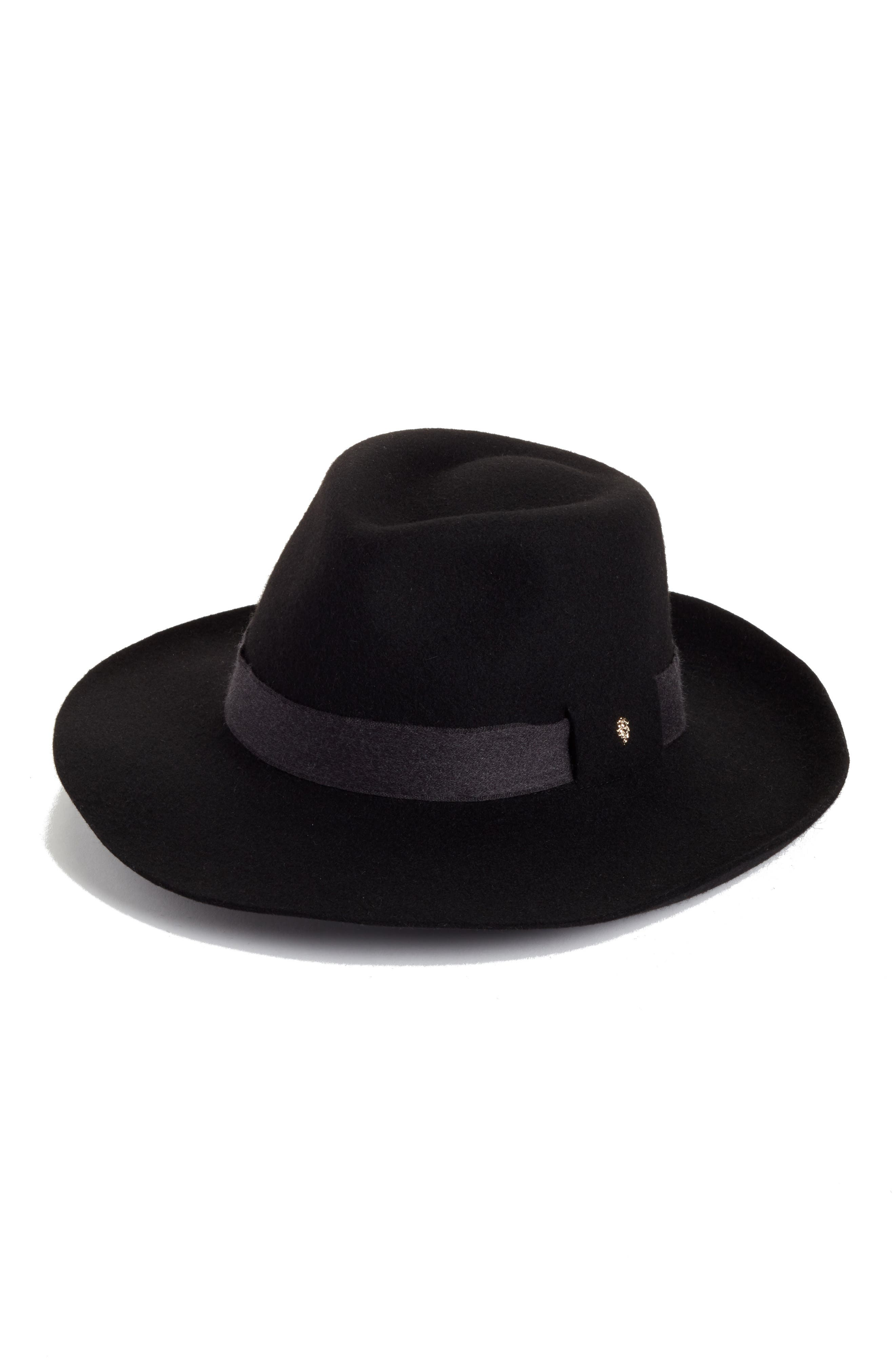 Brushed Wool Felt Fedora,                         Main,                         color,
