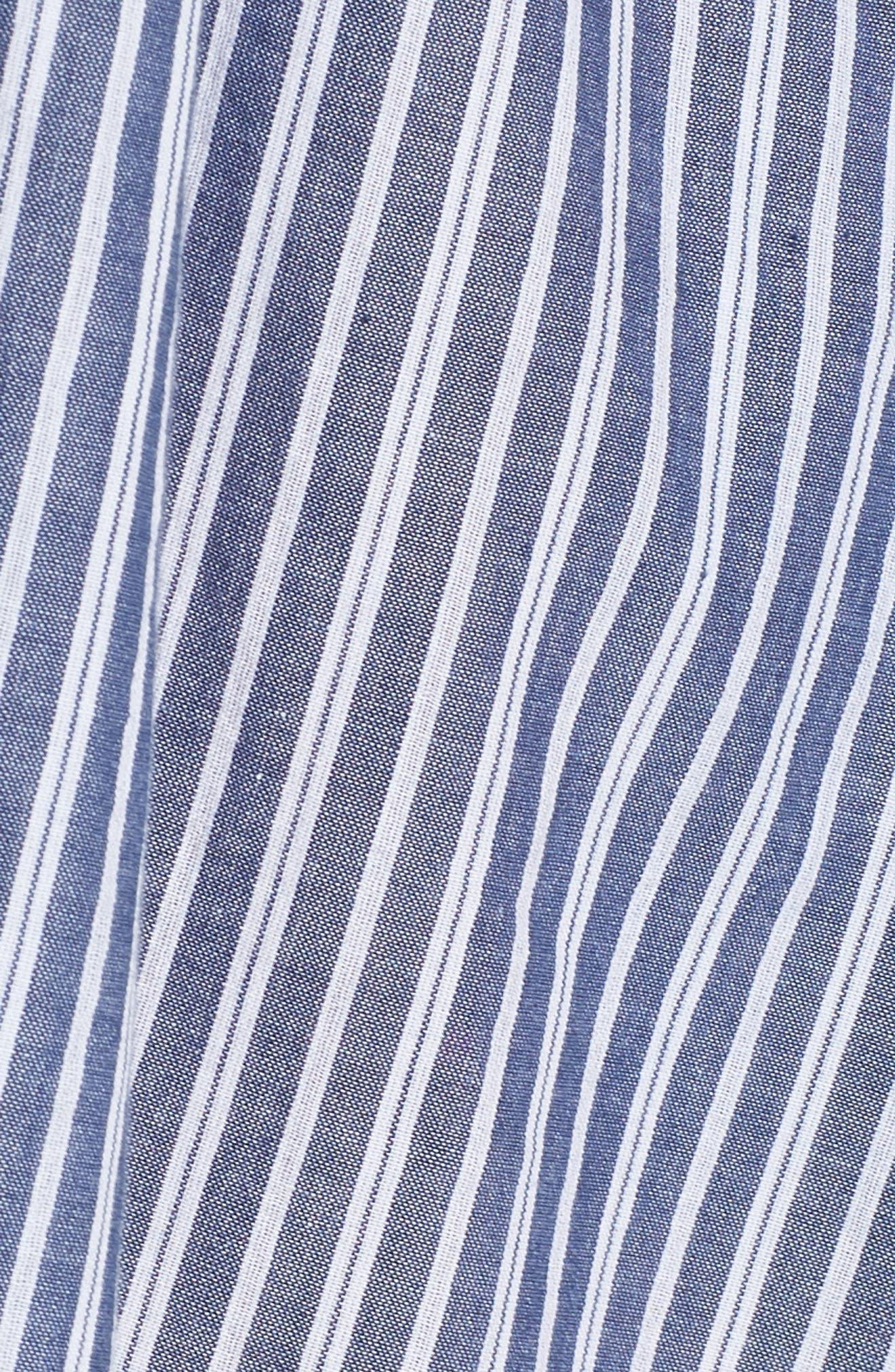 Tatus Stripe Drawstring Cotton Shirtdress,                             Alternate thumbnail 6, color,                             452