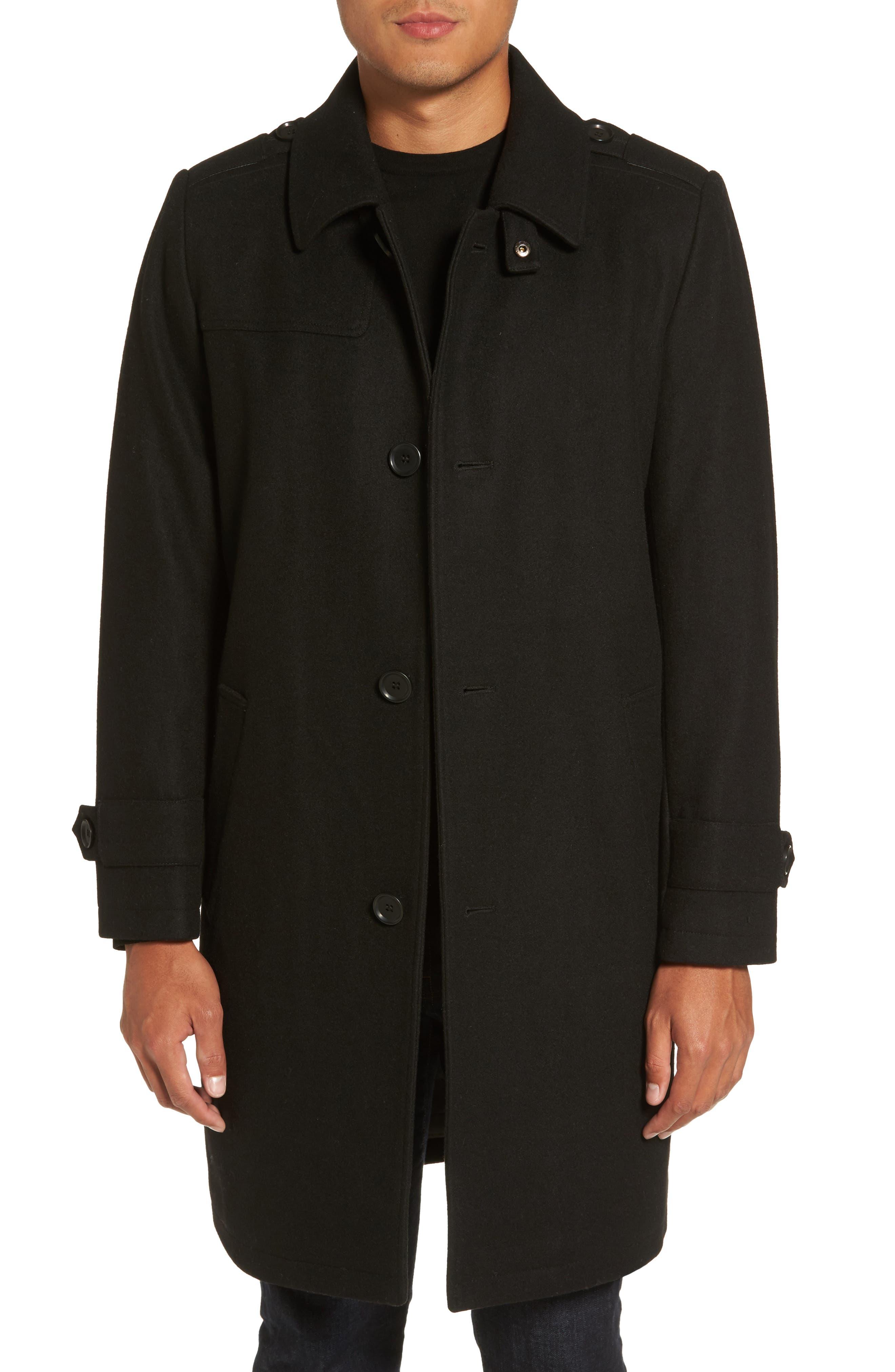 Wool Blend Overcoat,                             Main thumbnail 1, color,                             001