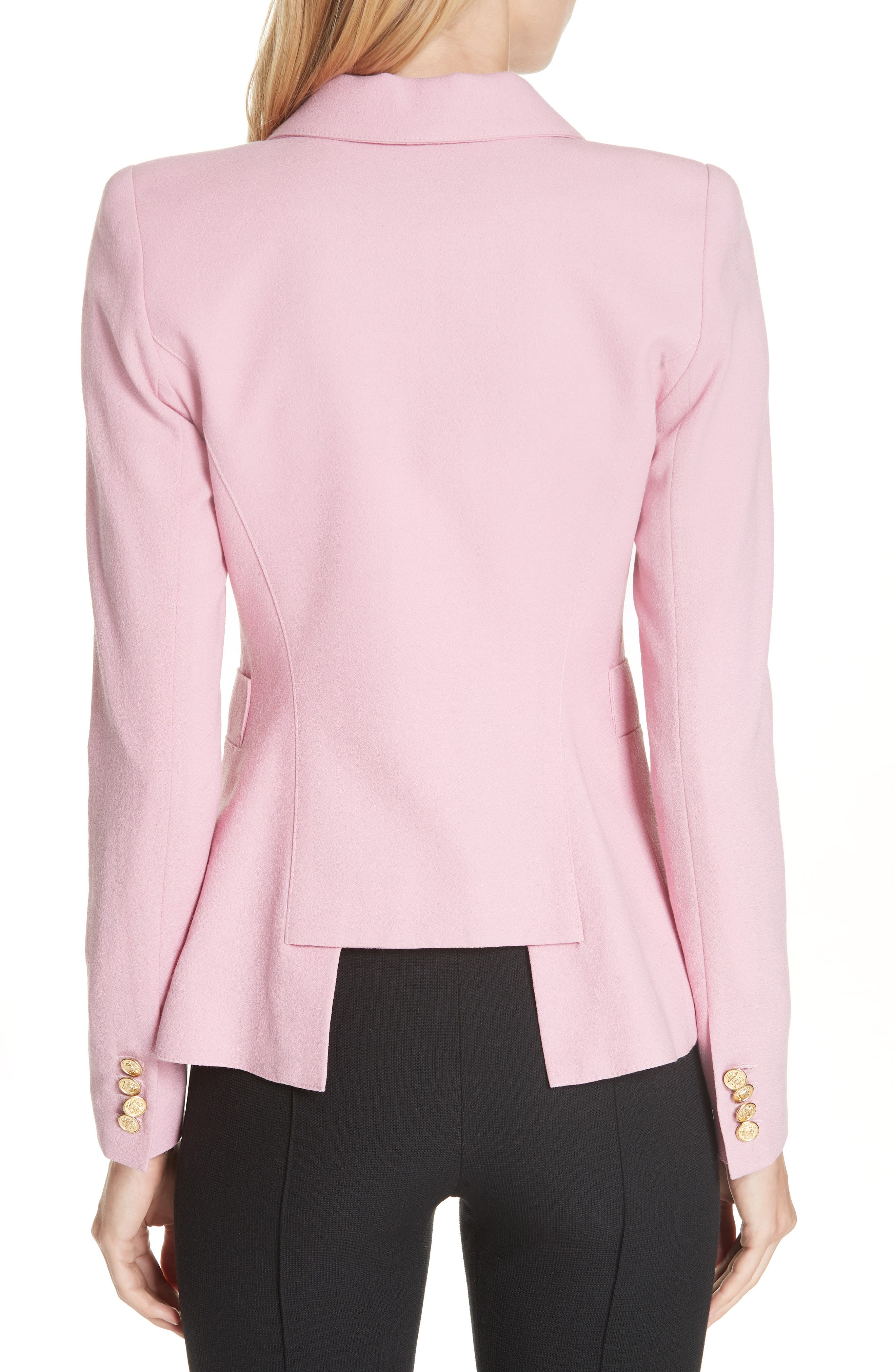 Classic Duchess Blazer,                             Alternate thumbnail 2, color,                             RETHINK PINK