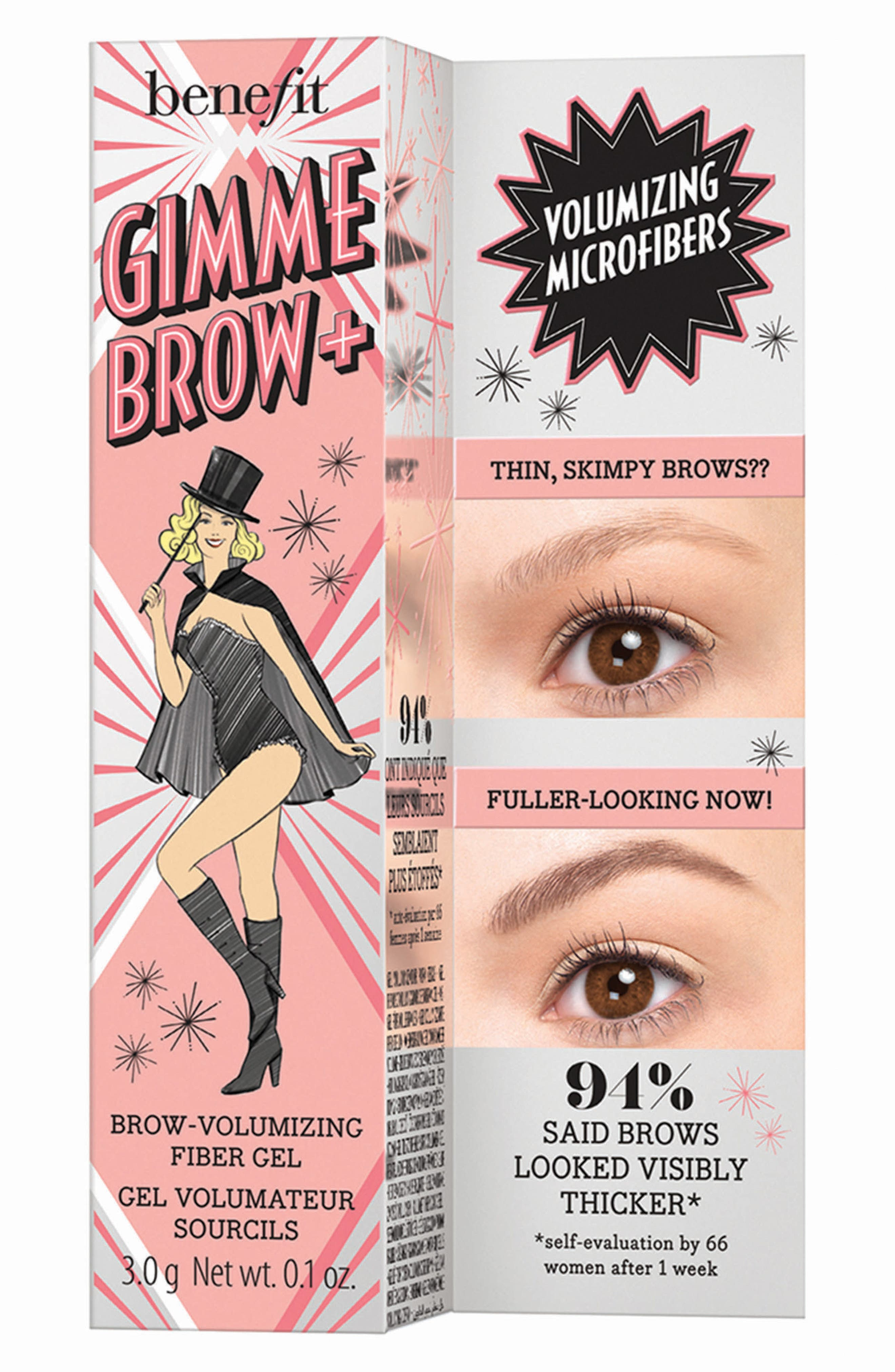 Benefit Gimme Brow+ Volumizing Eyebrow Gel,                             Alternate thumbnail 4, color,                             01 LIGHT/COOL LIGHT BLONDE