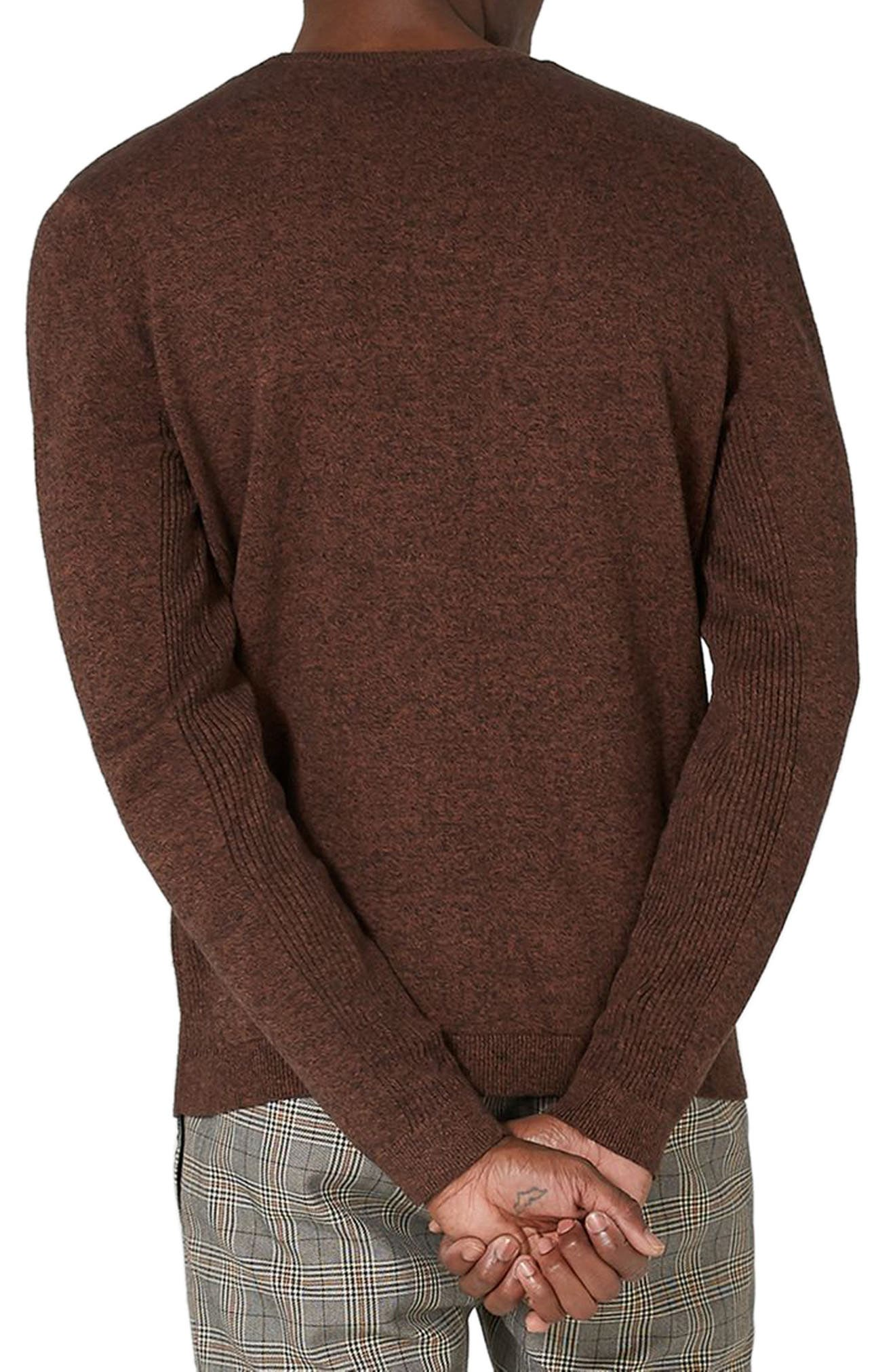 Side Ribbed Slim Fit Sweater,                             Alternate thumbnail 11, color,