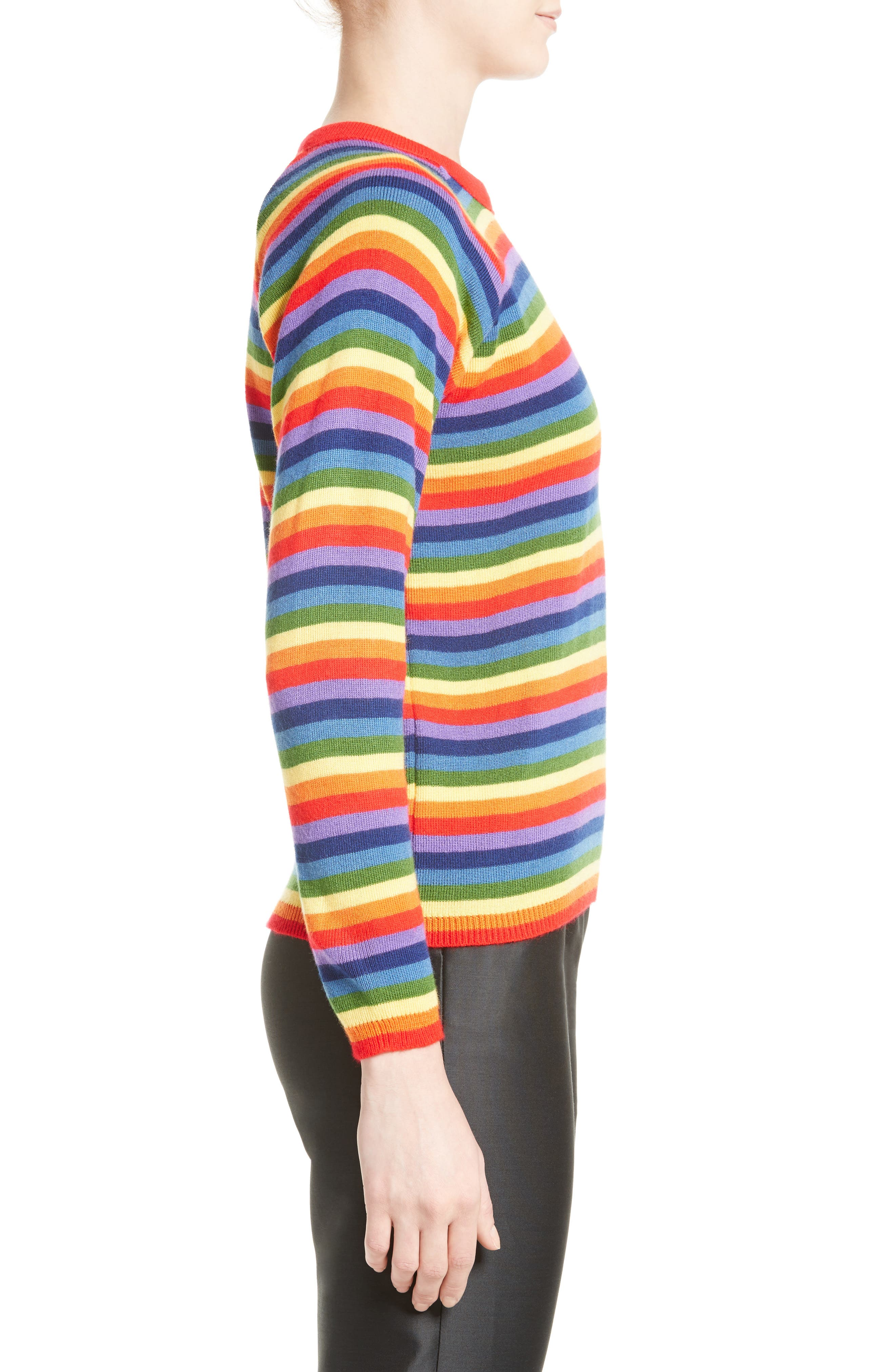 Charlie Rainbow Sweater,                             Alternate thumbnail 3, color,                             600