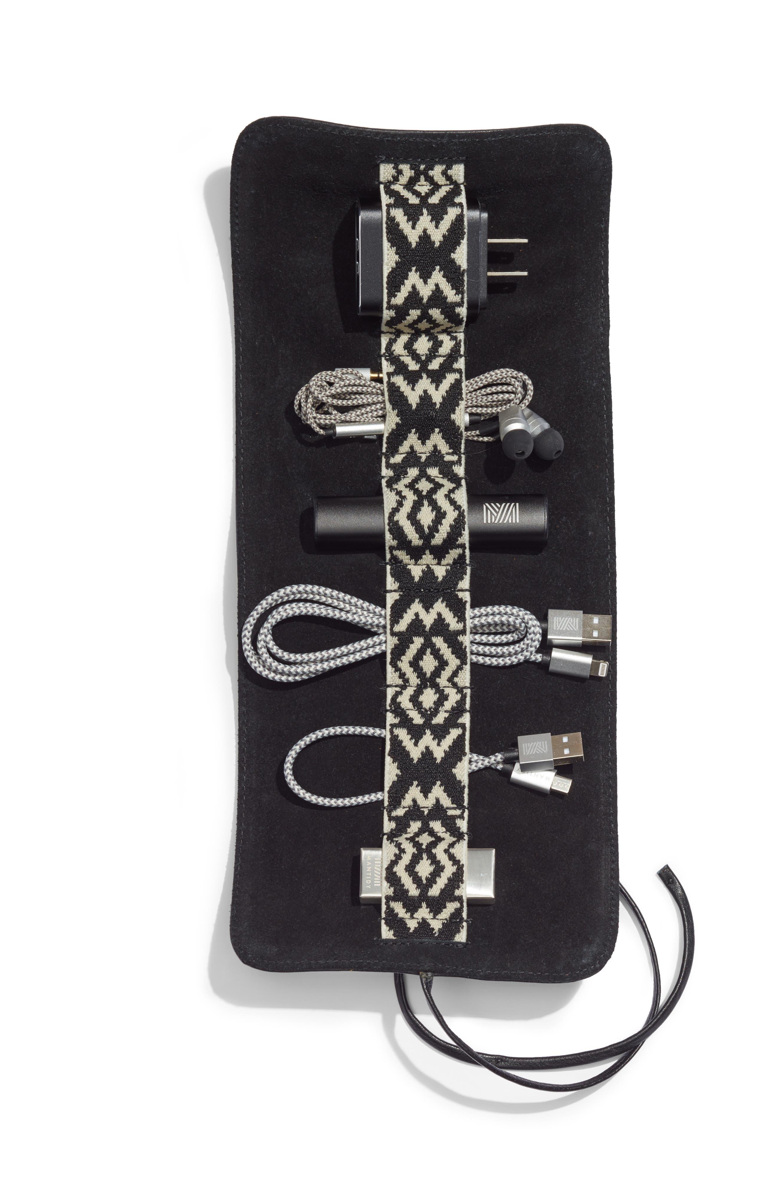 Soda Says x Mantidy Gaucho Tech Roll iPhone 7/8 Accessories Kit & Power Bank,                             Main thumbnail 1, color,                             BLACK