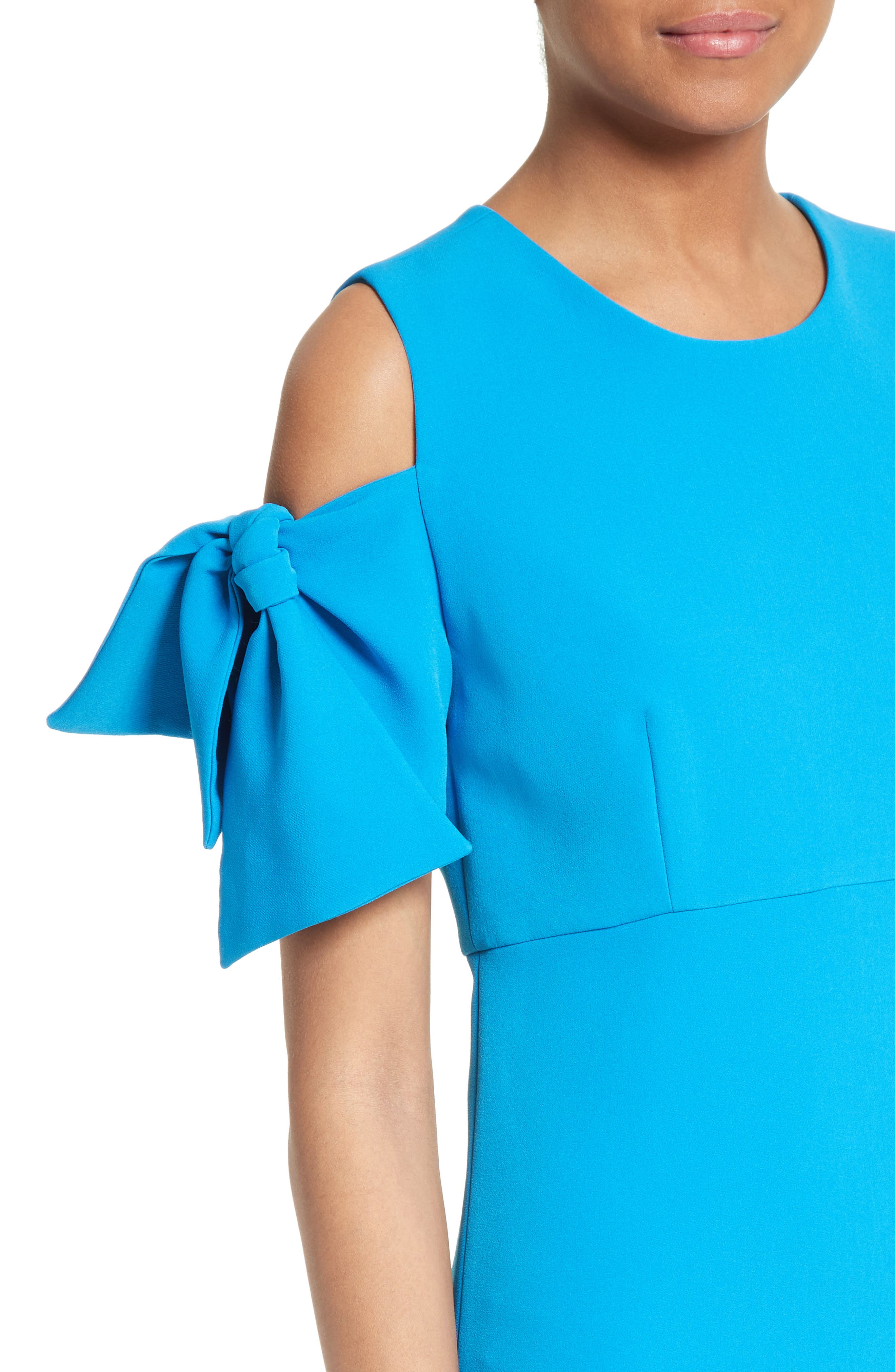 Stretch Crepe Cold Shoulder Minidress,                             Alternate thumbnail 12, color,