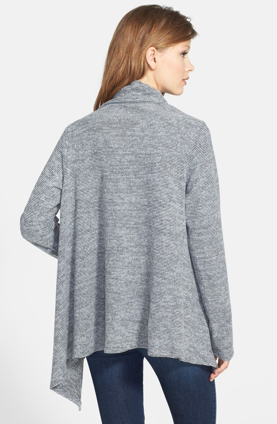 One-Button Textured Wrap Cardigan,                             Alternate thumbnail 3, color,                             144