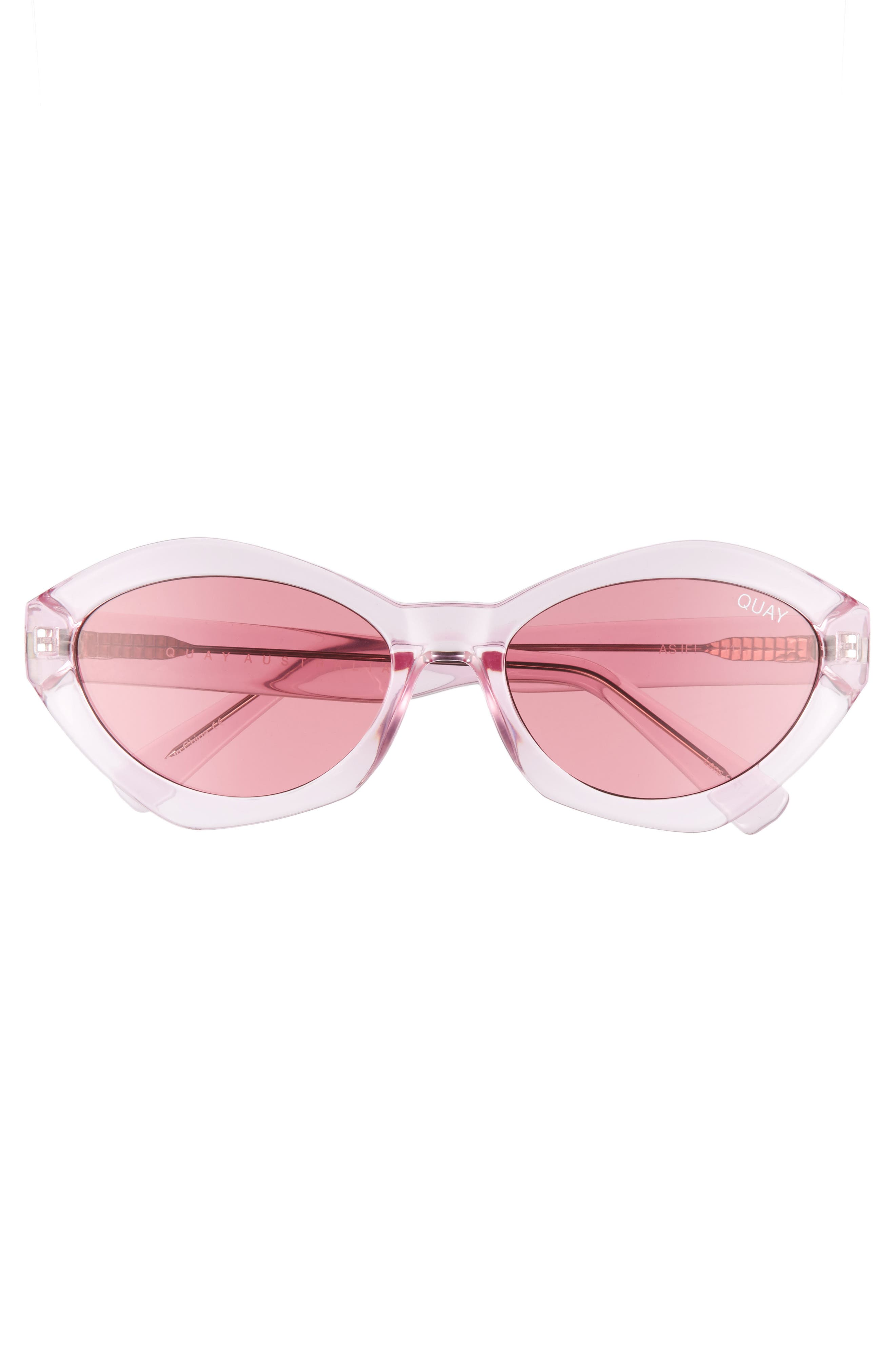 54mm As If Oval Sunglasses,                             Alternate thumbnail 3, color,                             PINK/ PINK