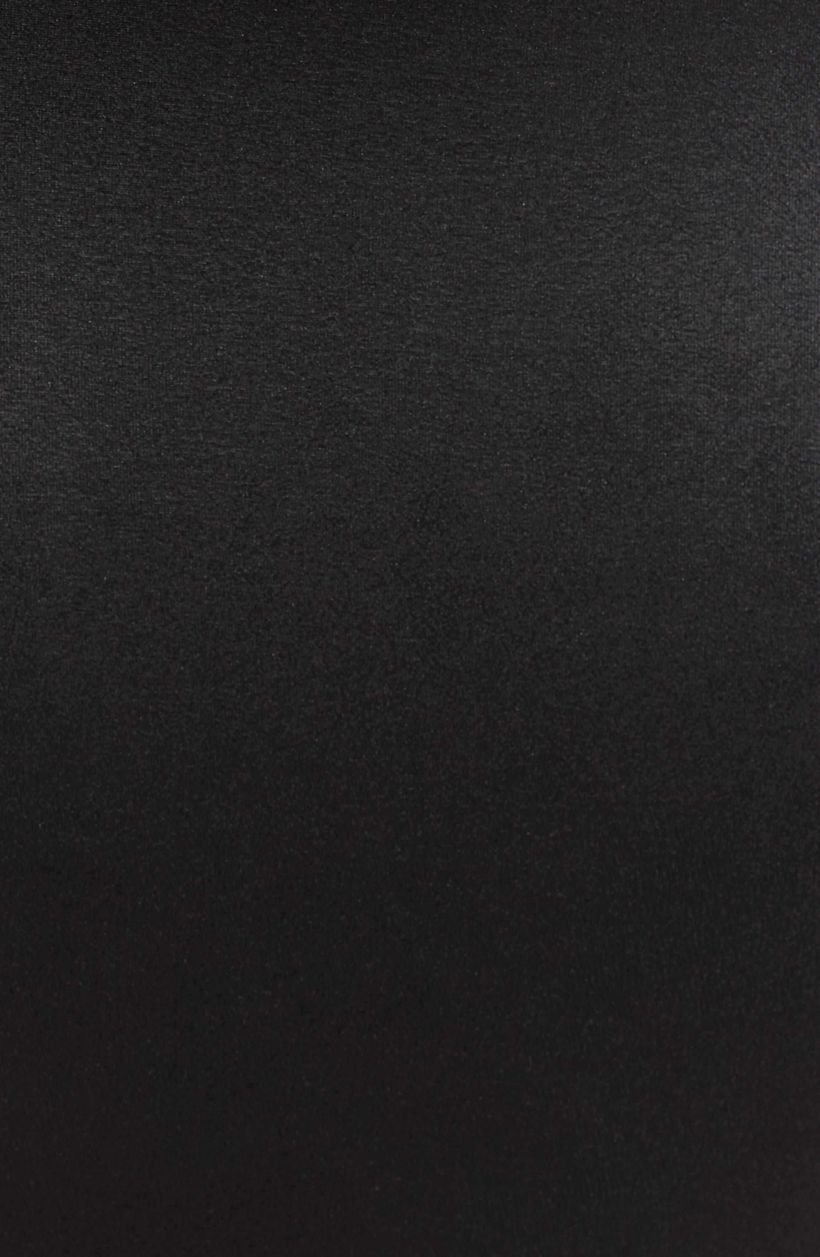 Faux Leather Pencil Skirt,                             Alternate thumbnail 5, color,                             VERY BLACK