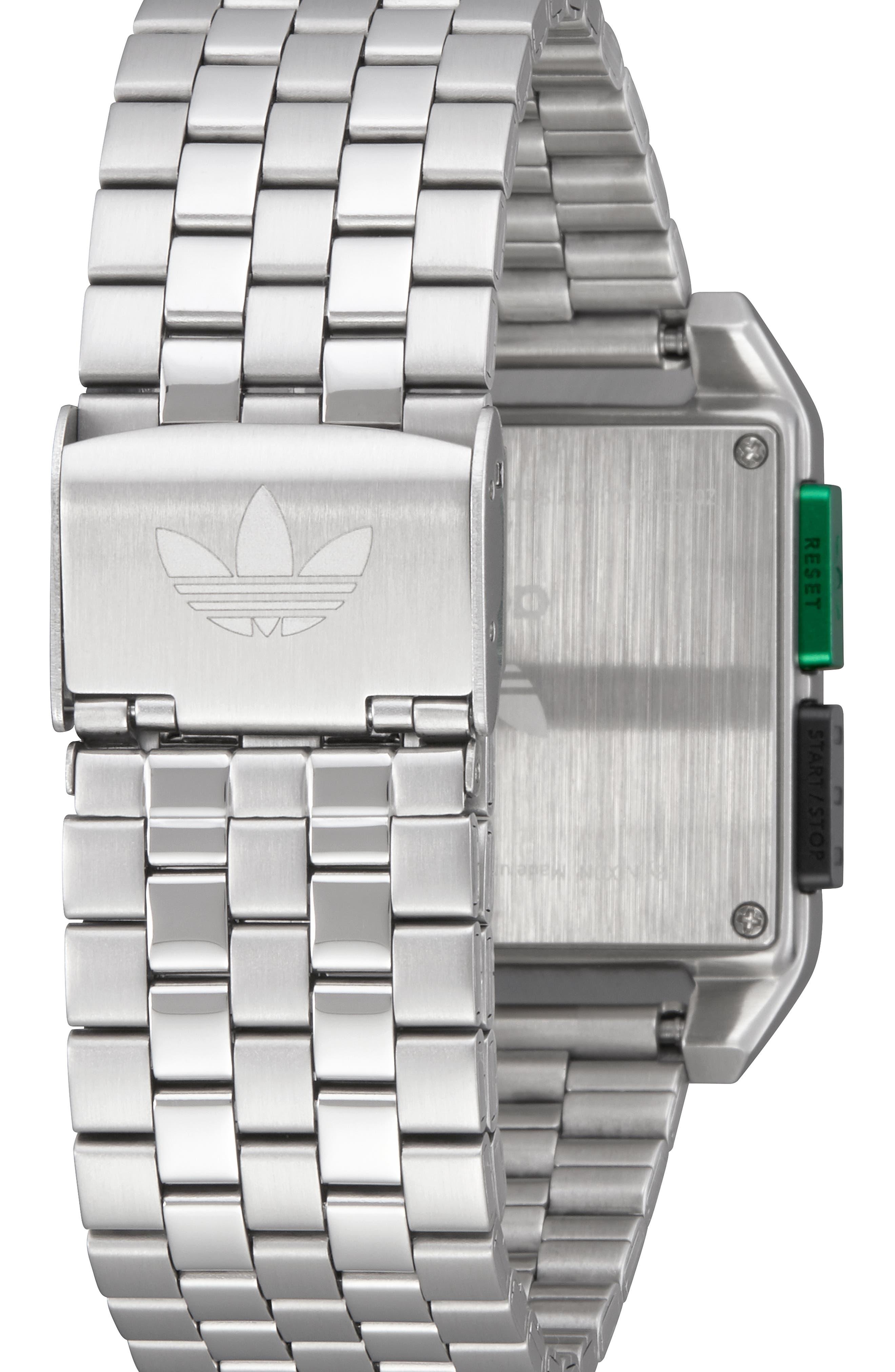Archive Digital Bracelet Watch, 36mm,                             Alternate thumbnail 2, color,                             SILVER/ BLACK/ GREEN