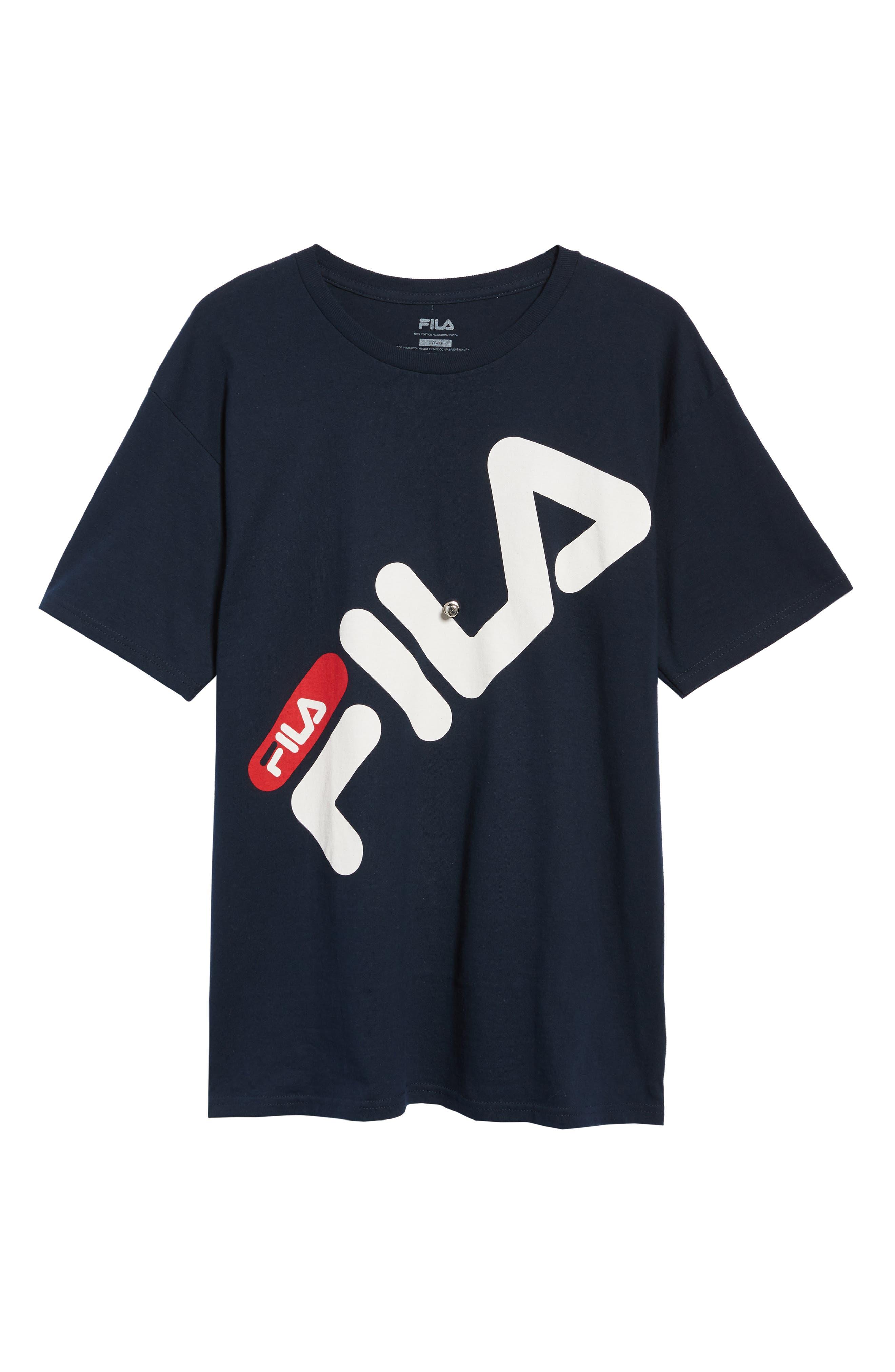 Micah Logo T-Shirt,                             Alternate thumbnail 6, color,                             NAVY/ WHITE/ CHINESE RED