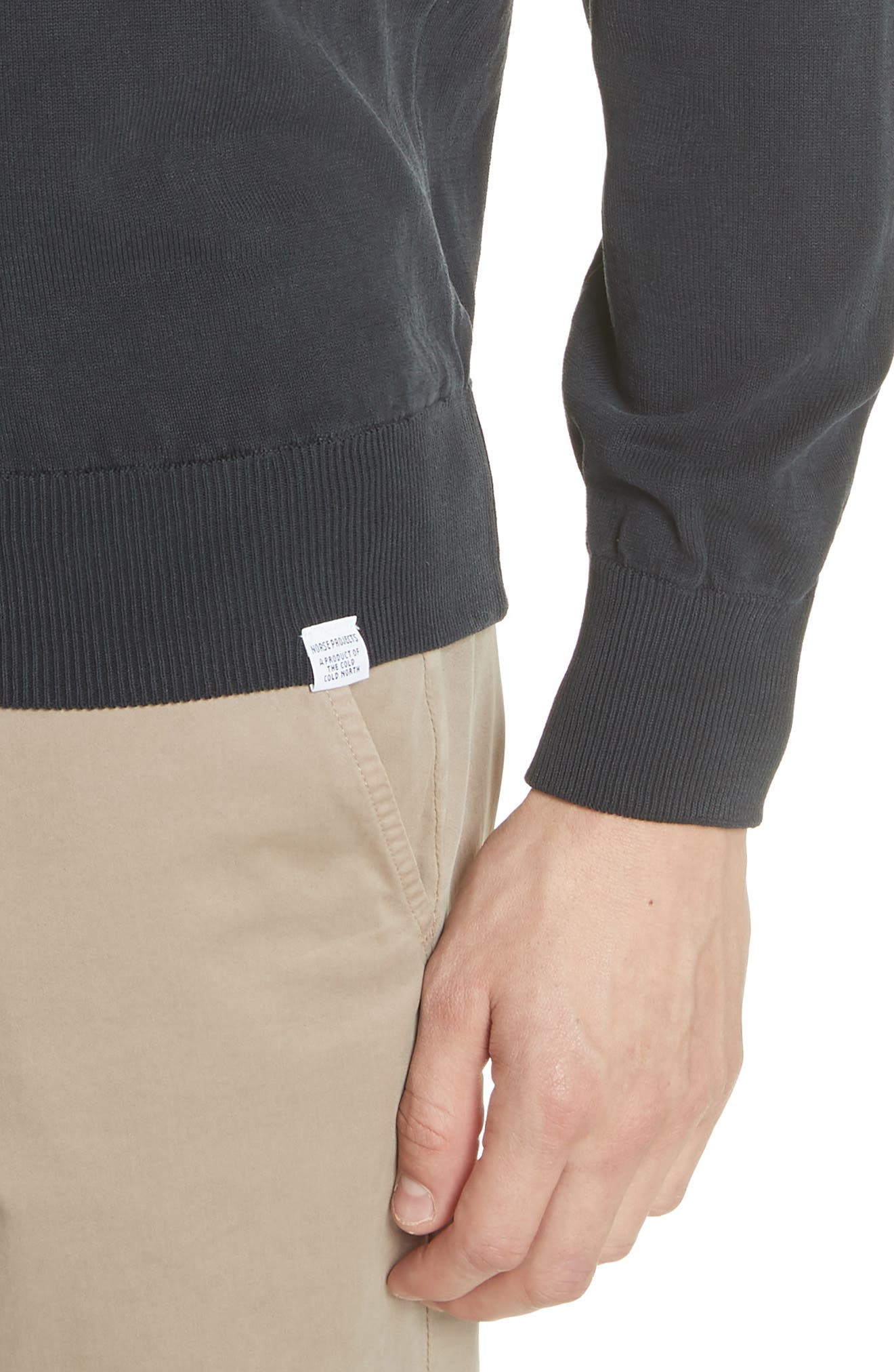 Magnus Combed Cotton Crewneck Sweater,                             Alternate thumbnail 4, color,                             410