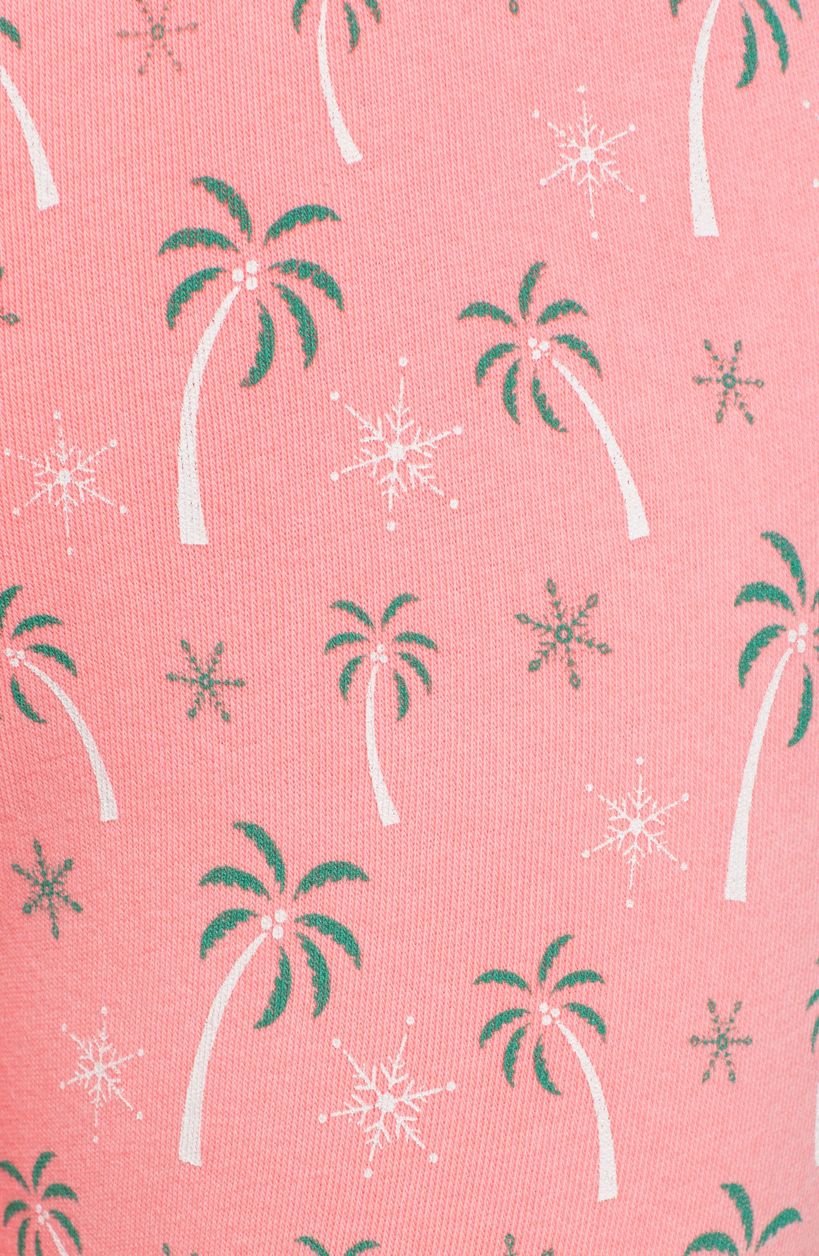 Tropical Christmas Sweatpants,                             Alternate thumbnail 5, color,                             NEON SIGN
