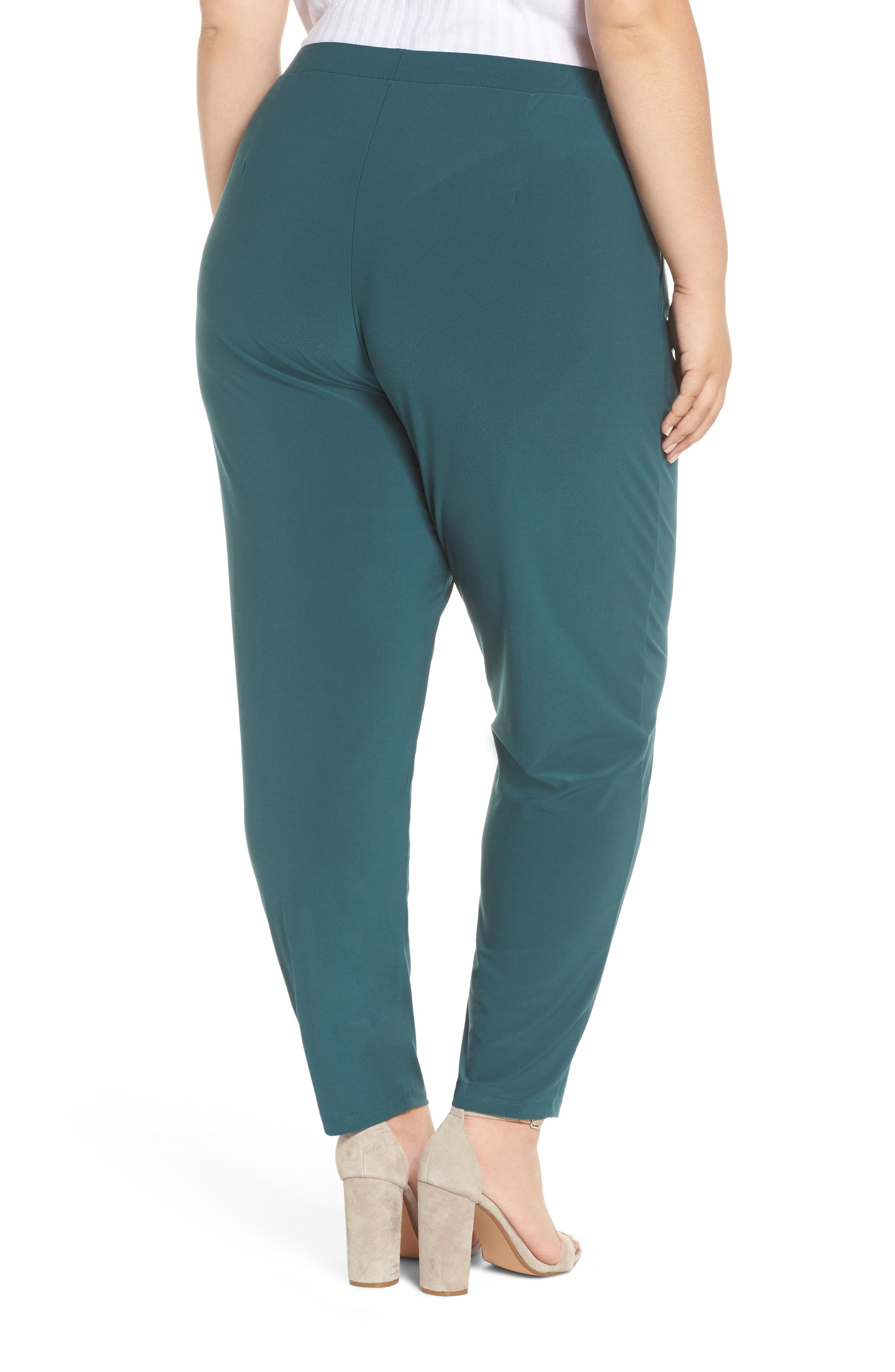 High Rise Pleated Pants,                             Alternate thumbnail 2, color,                             GREEN BUG