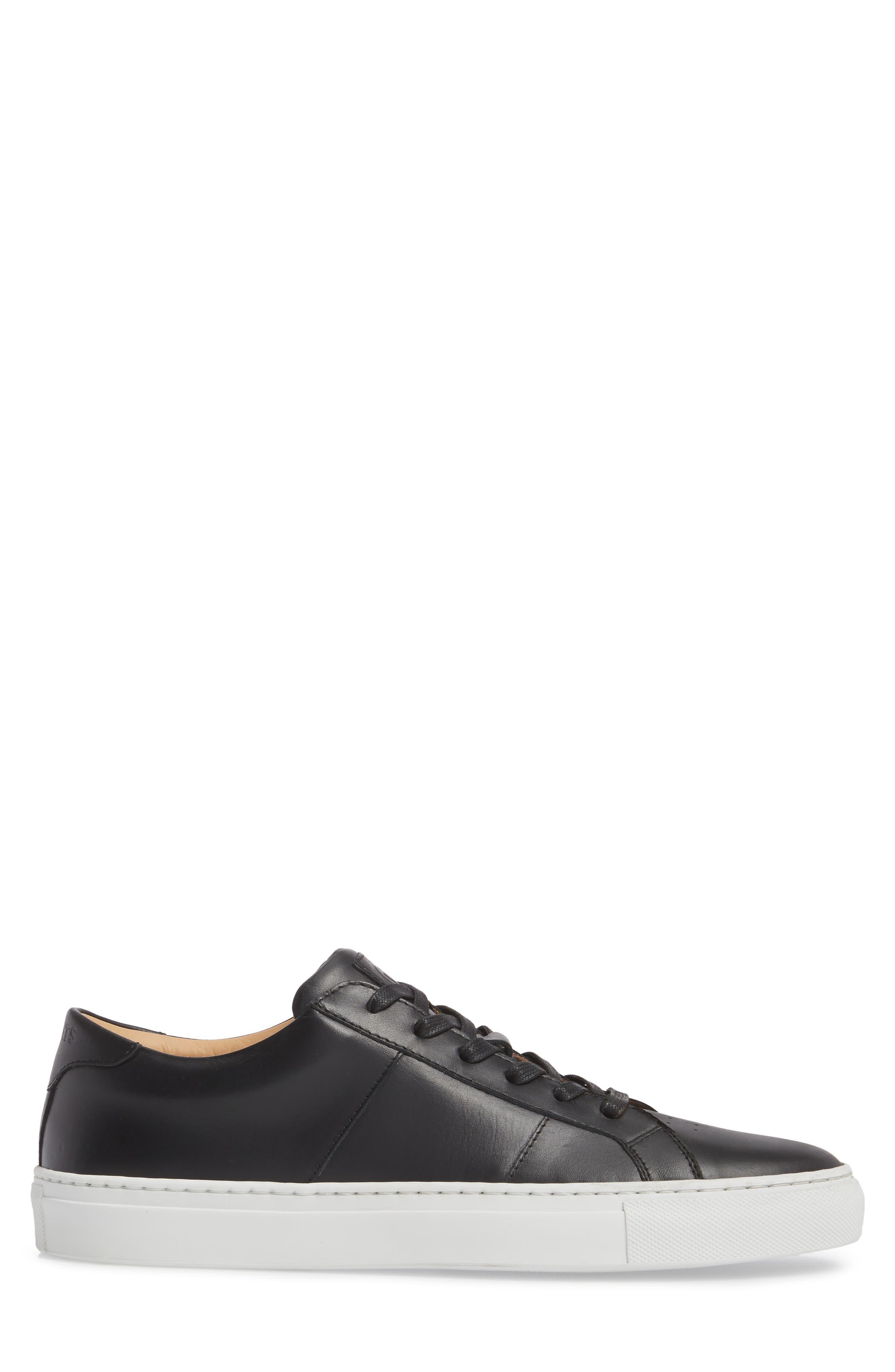 Royale Sneaker,                             Alternate thumbnail 3, color,                             BLACK LEATHER