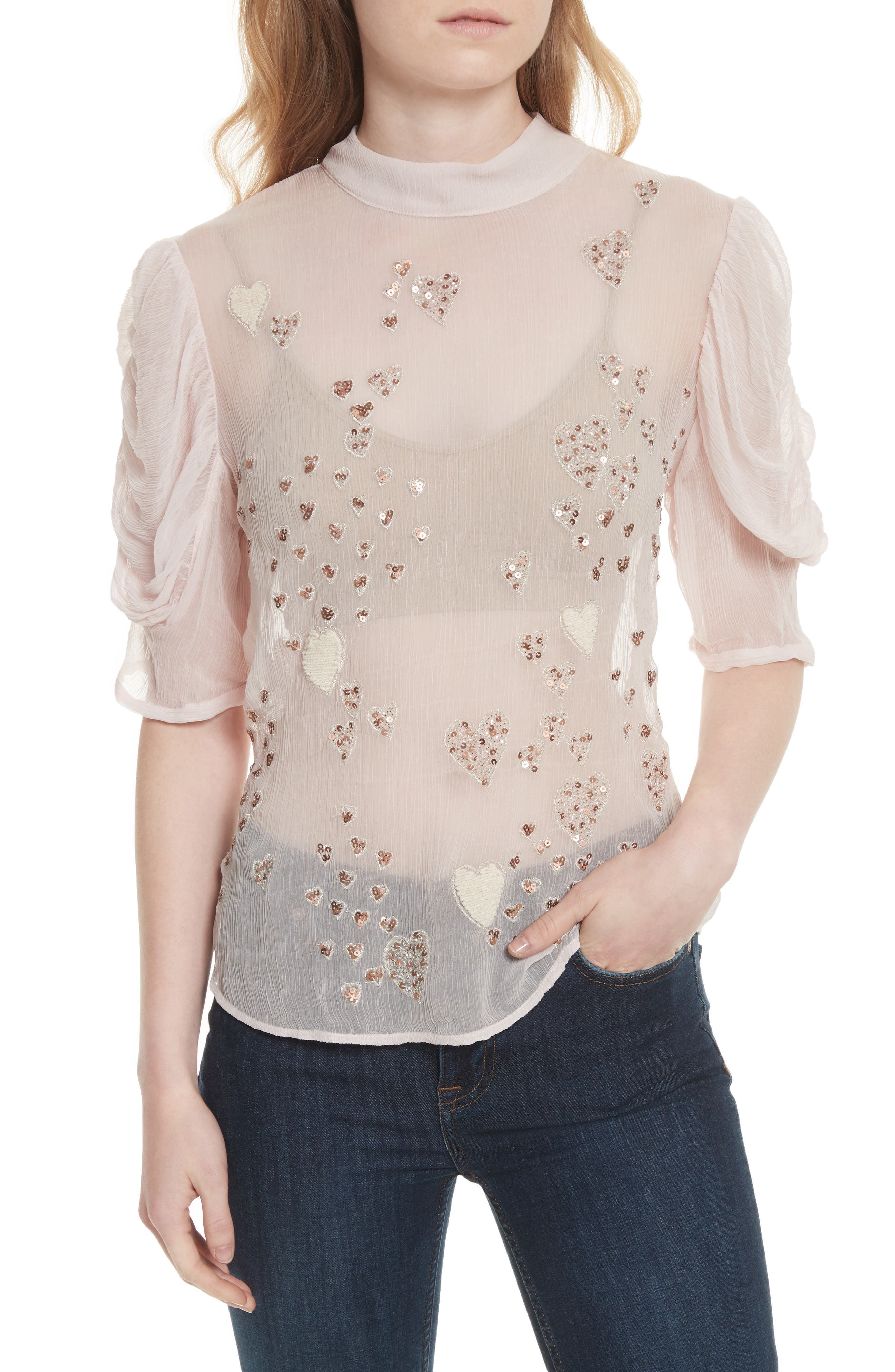 So in Love Embroidered Blouse,                             Main thumbnail 2, color,