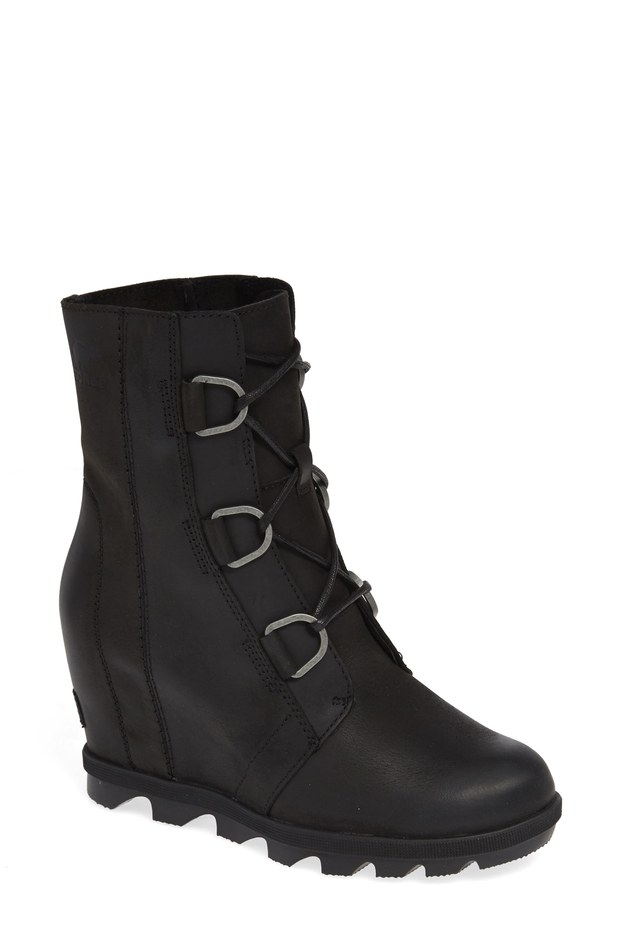 Sorel Joan Of Arctic Ii Waterproof Wedge Boot, Black