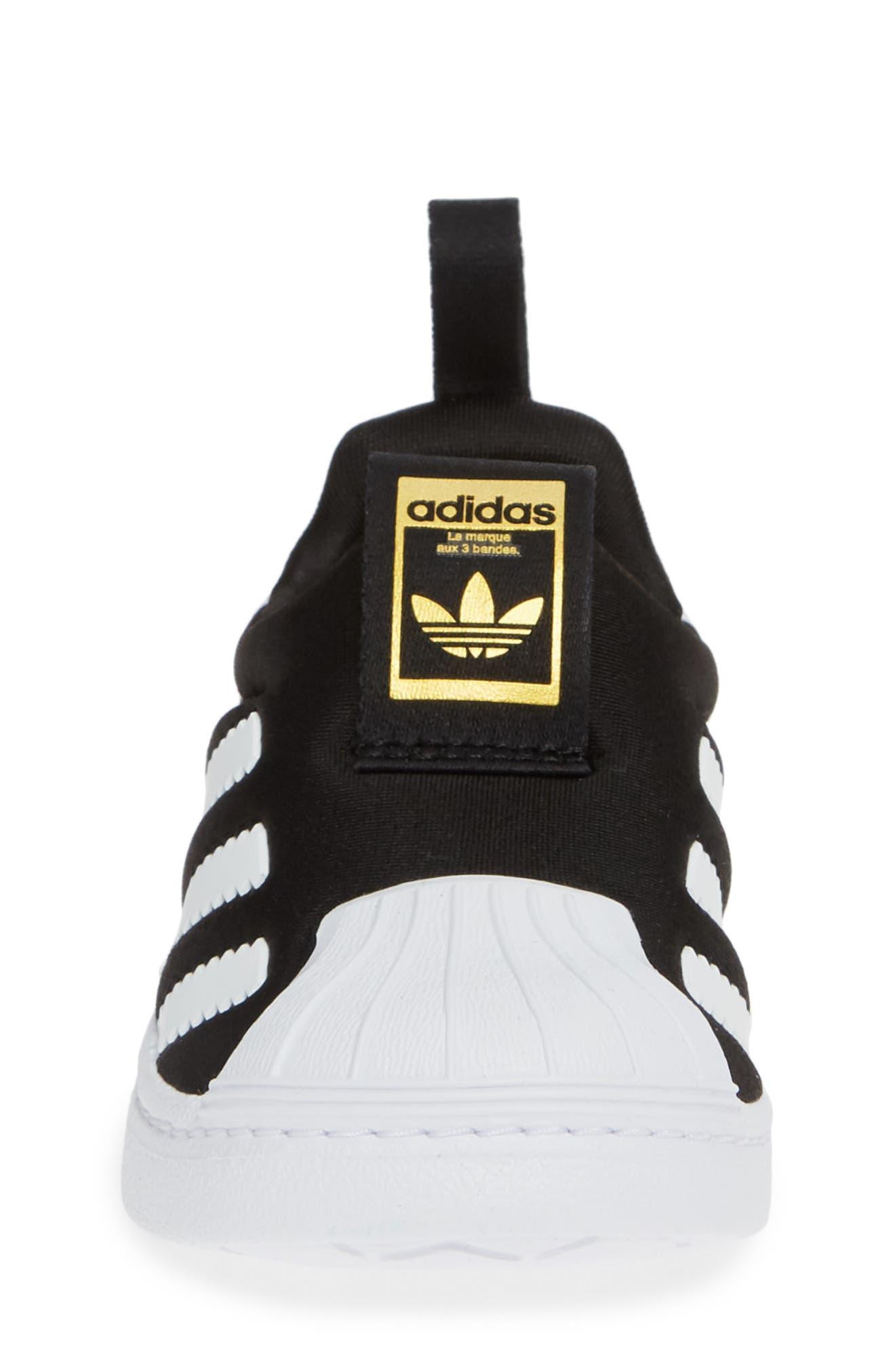 Superstar 360 I Sneaker,                             Alternate thumbnail 4, color,                             CORE BLACK/ WHITE/ GOLD MET