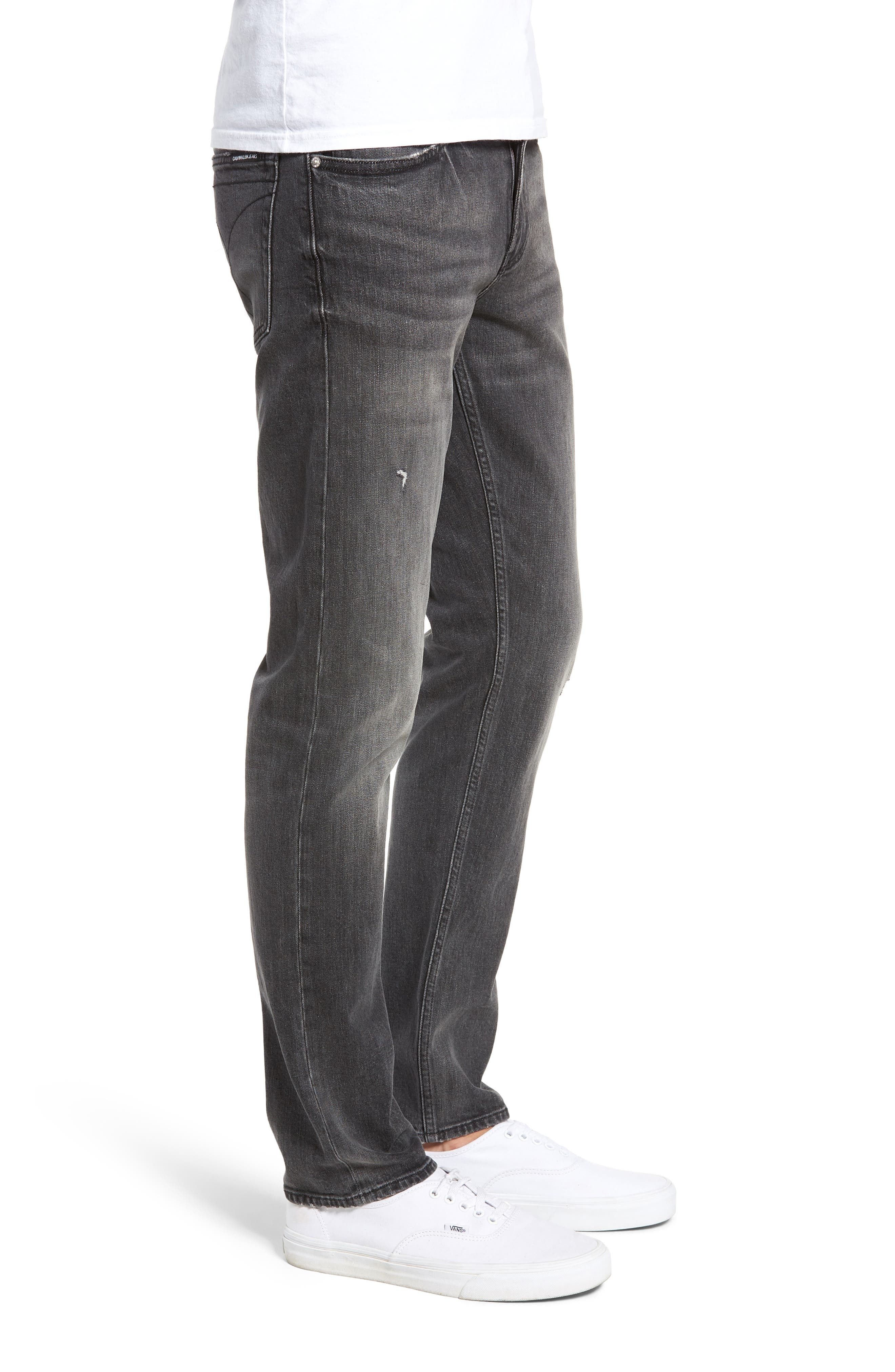 Slim Fit Jeans,                             Alternate thumbnail 3, color,                             BLACK