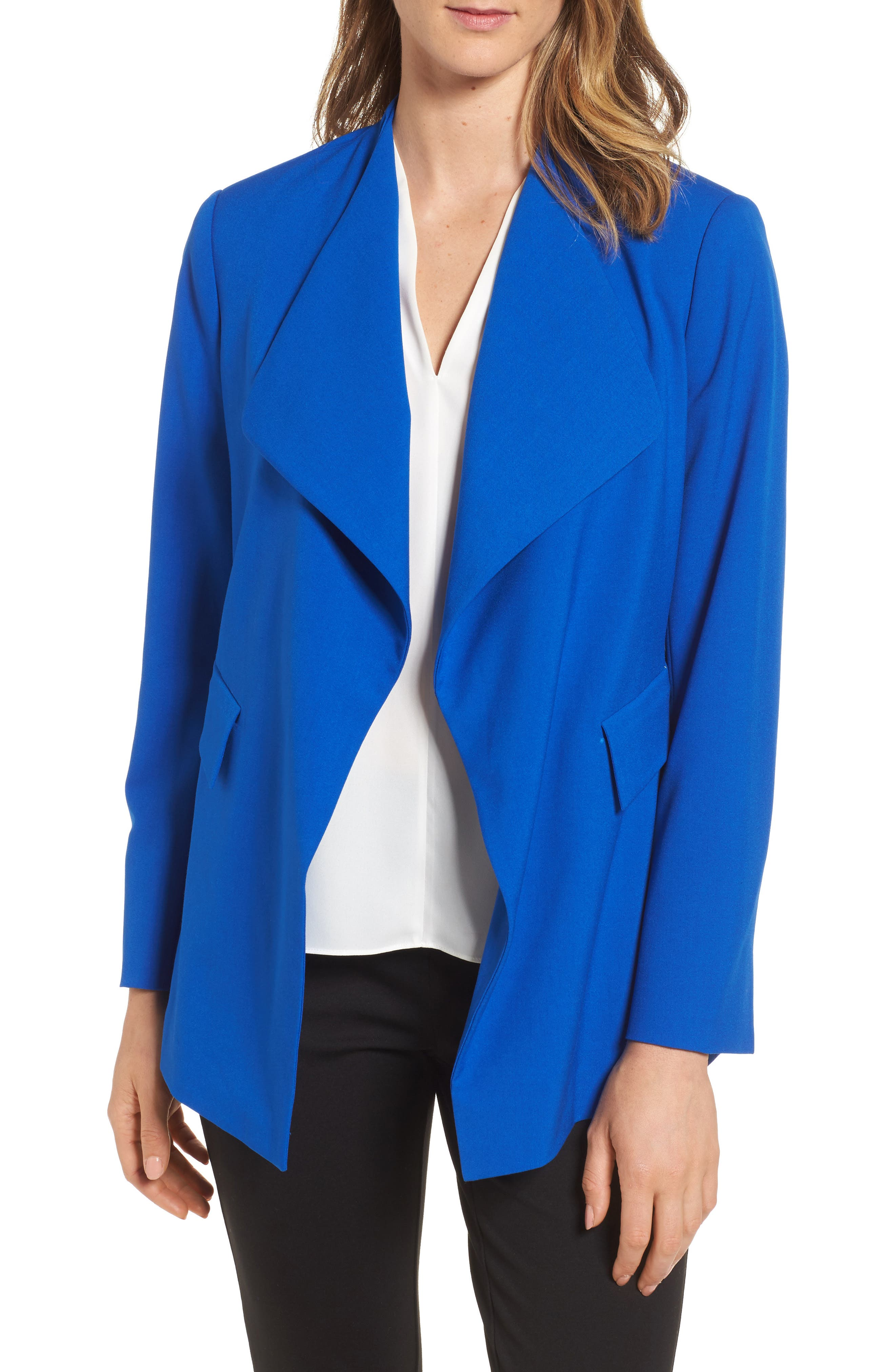 Drape Front Jacket,                             Main thumbnail 1, color,