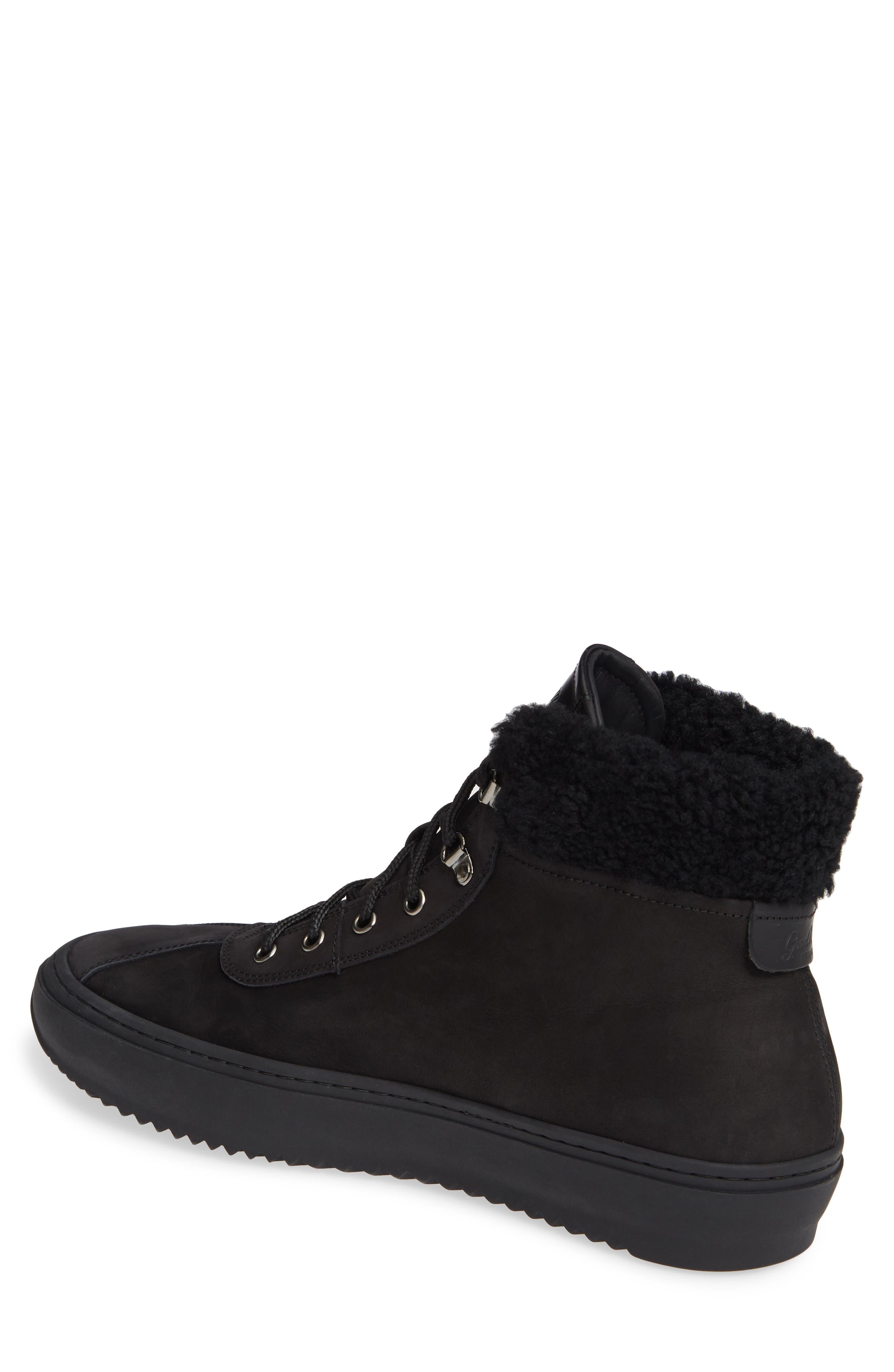 Hiker Street Sneaker,                             Alternate thumbnail 2, color,                             BLACK LEATHER