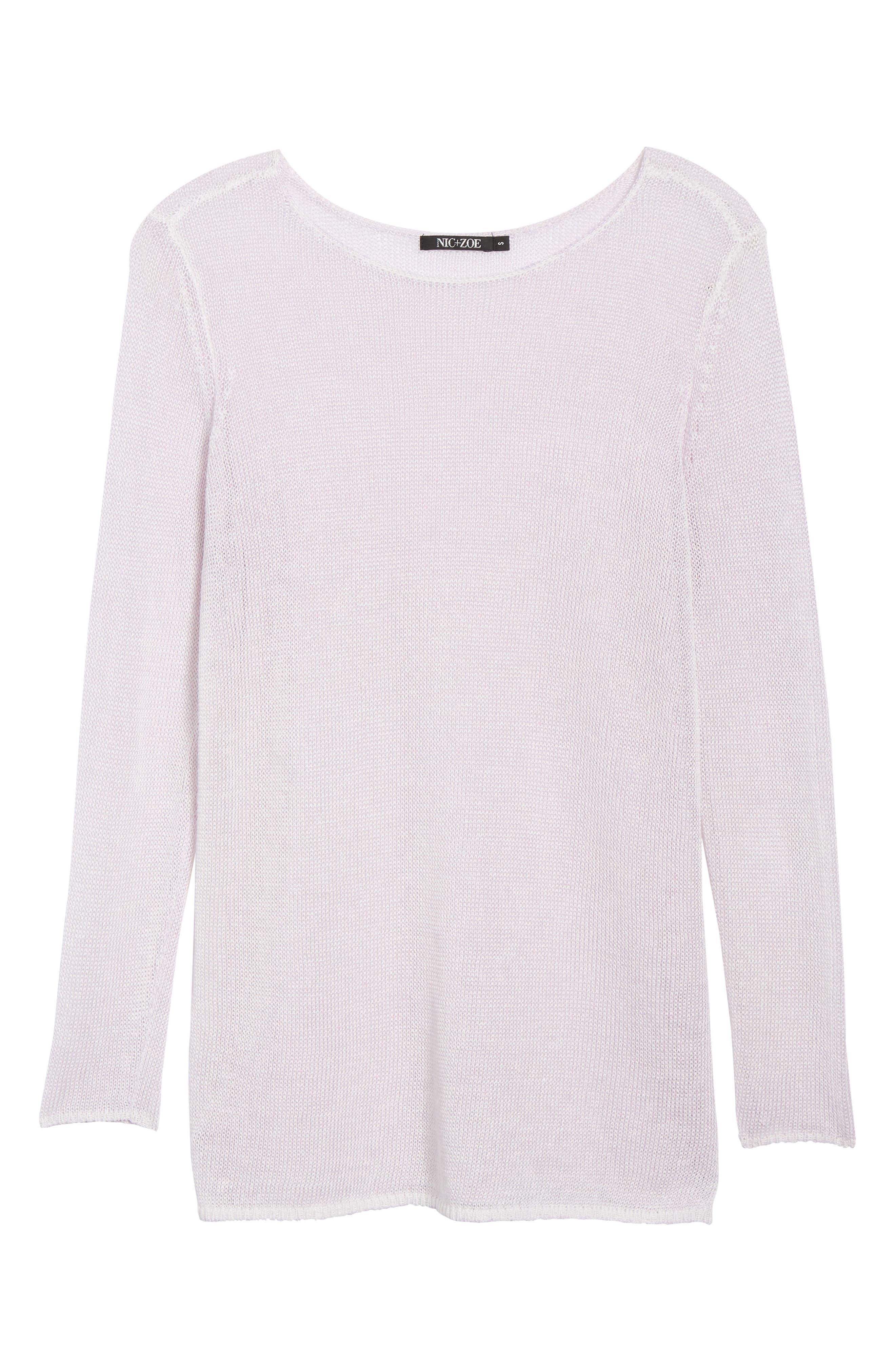 NIC + ZOE Poolside Linen Blend Sweater,                             Alternate thumbnail 24, color,