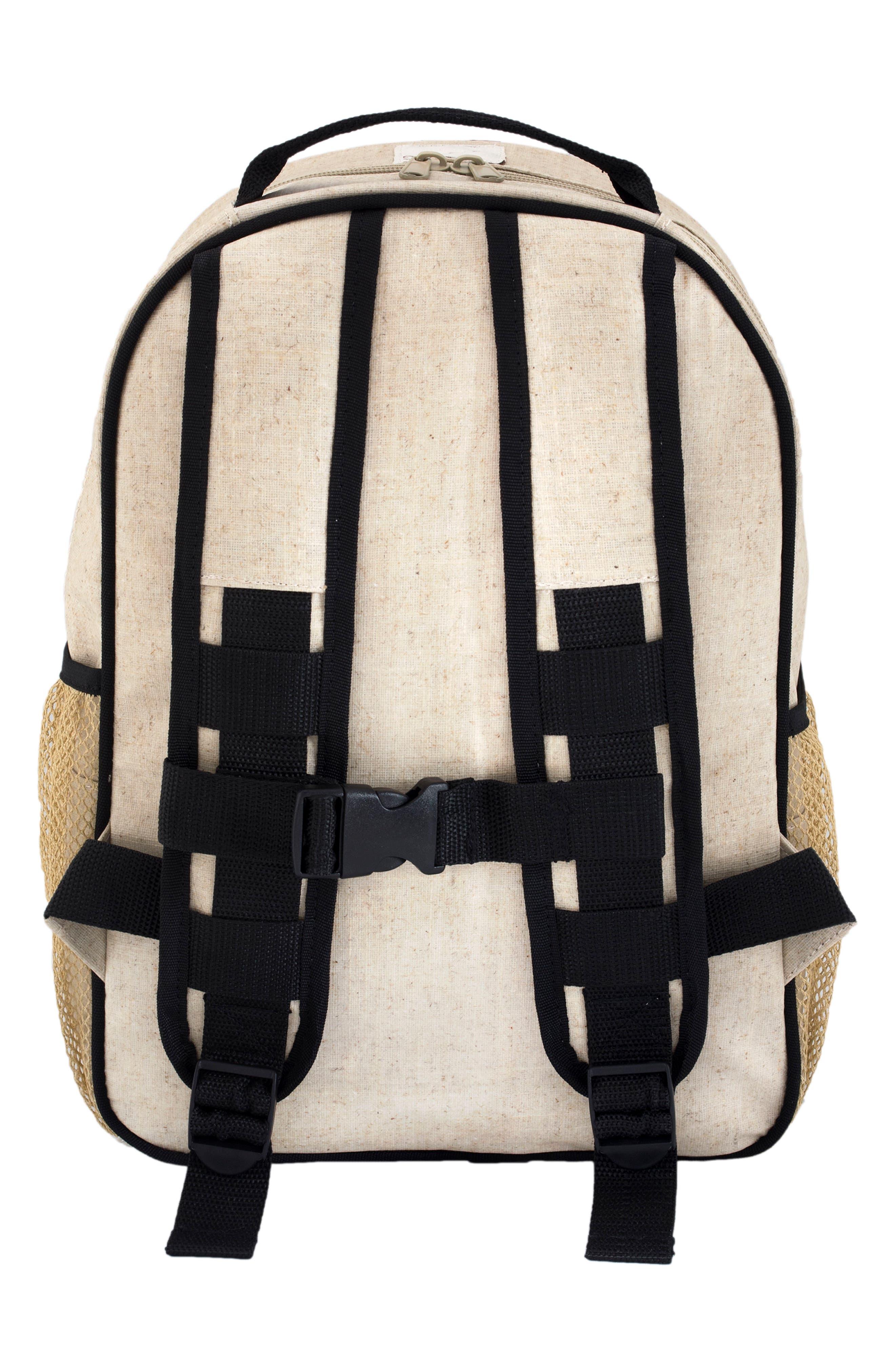Raw Linen Toddler Backpack,                             Alternate thumbnail 3, color,