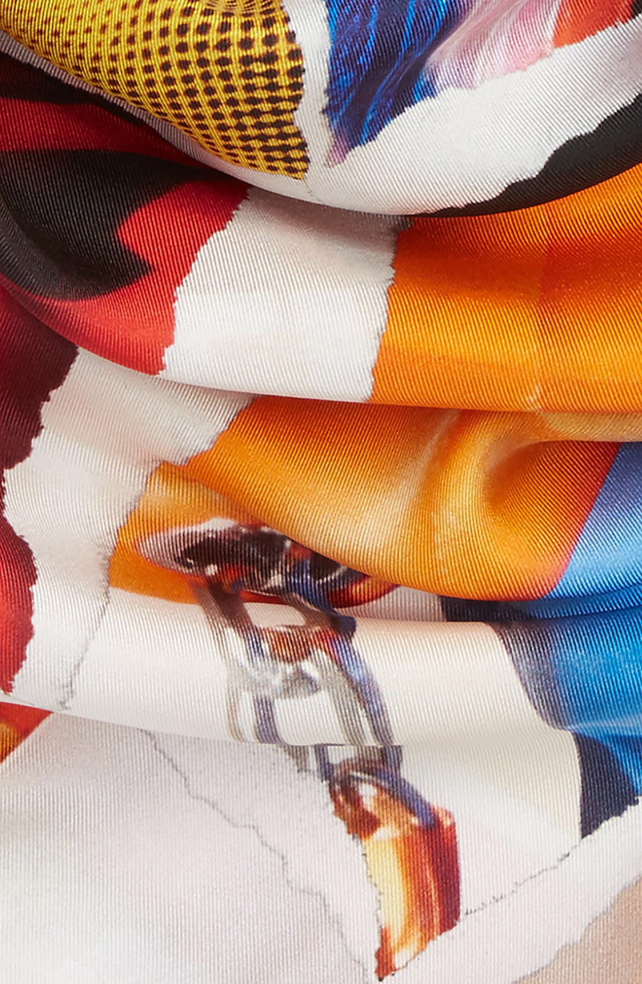 Silk Scarf,                             Alternate thumbnail 4, color,                             001