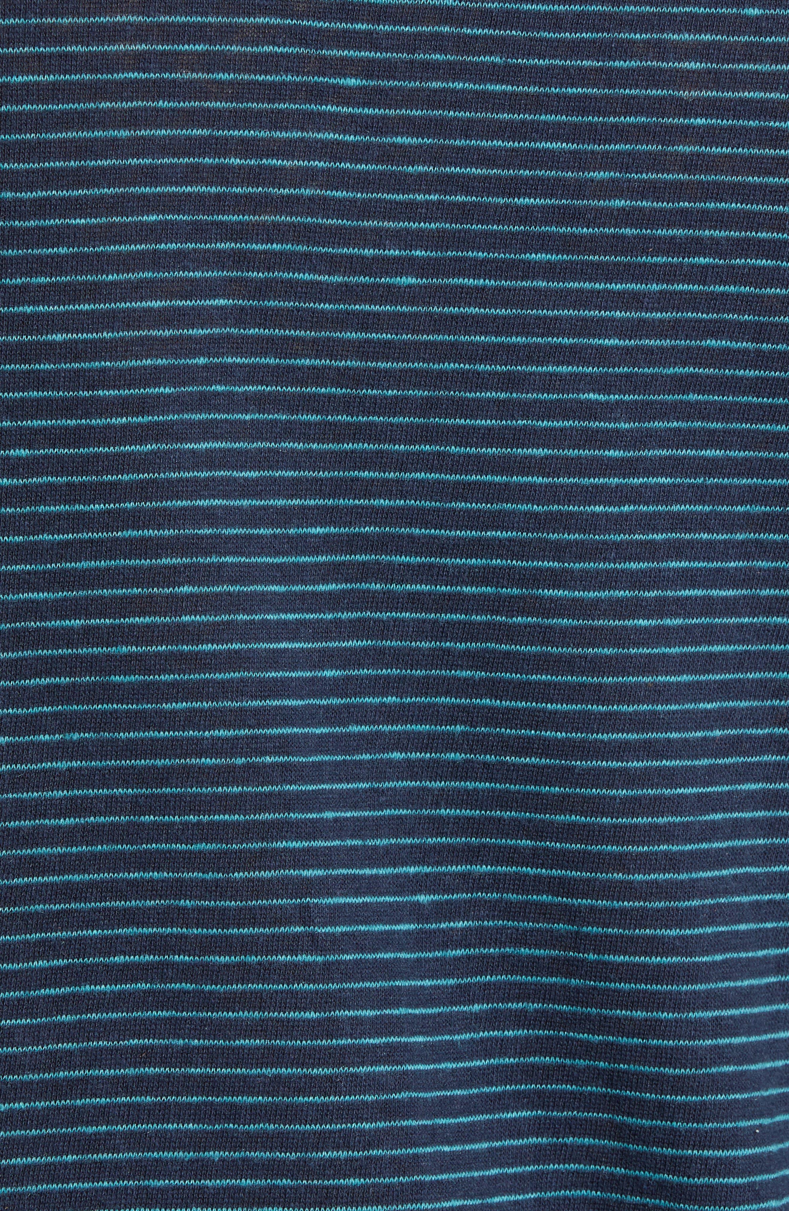 Narrow Stripe Long Sleeve T-Shirt,                             Alternate thumbnail 5, color,                             NAVY/ BLUE