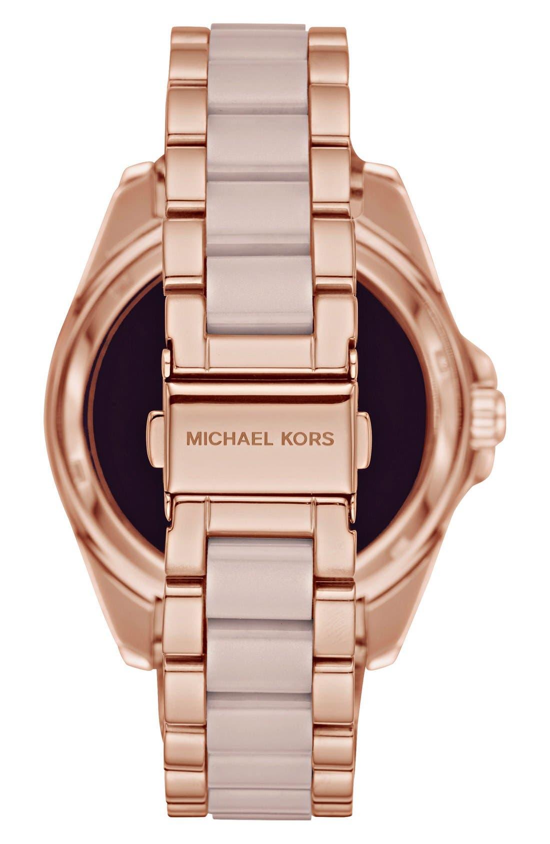 MICHAEL Michael Kors Bradshaw Access Bracelet Smart Watch, 45mm,                             Alternate thumbnail 44, color,