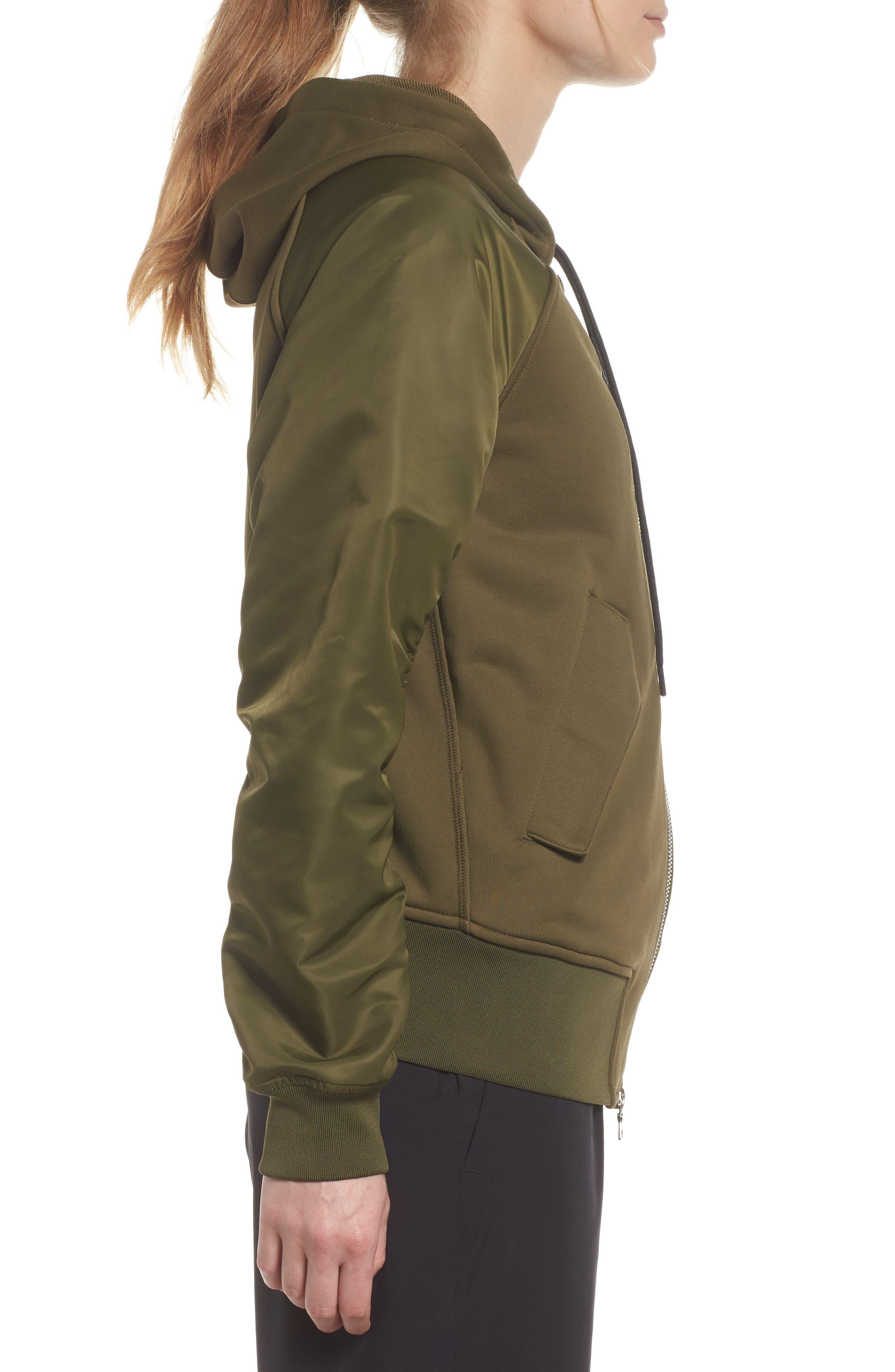 NikeLab Women's Mixed Media Bomber Jacket,                             Alternate thumbnail 5, color,