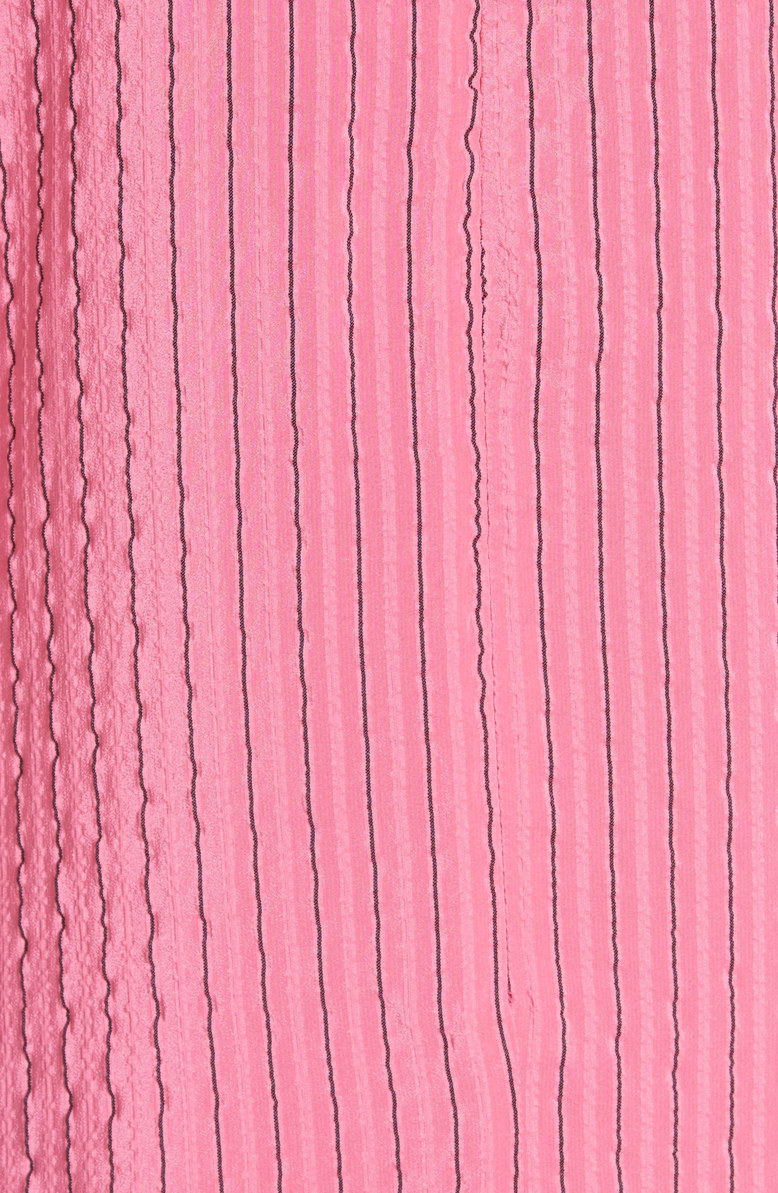 Seersucker Silk Blend Dress,                             Alternate thumbnail 5, color,                             650