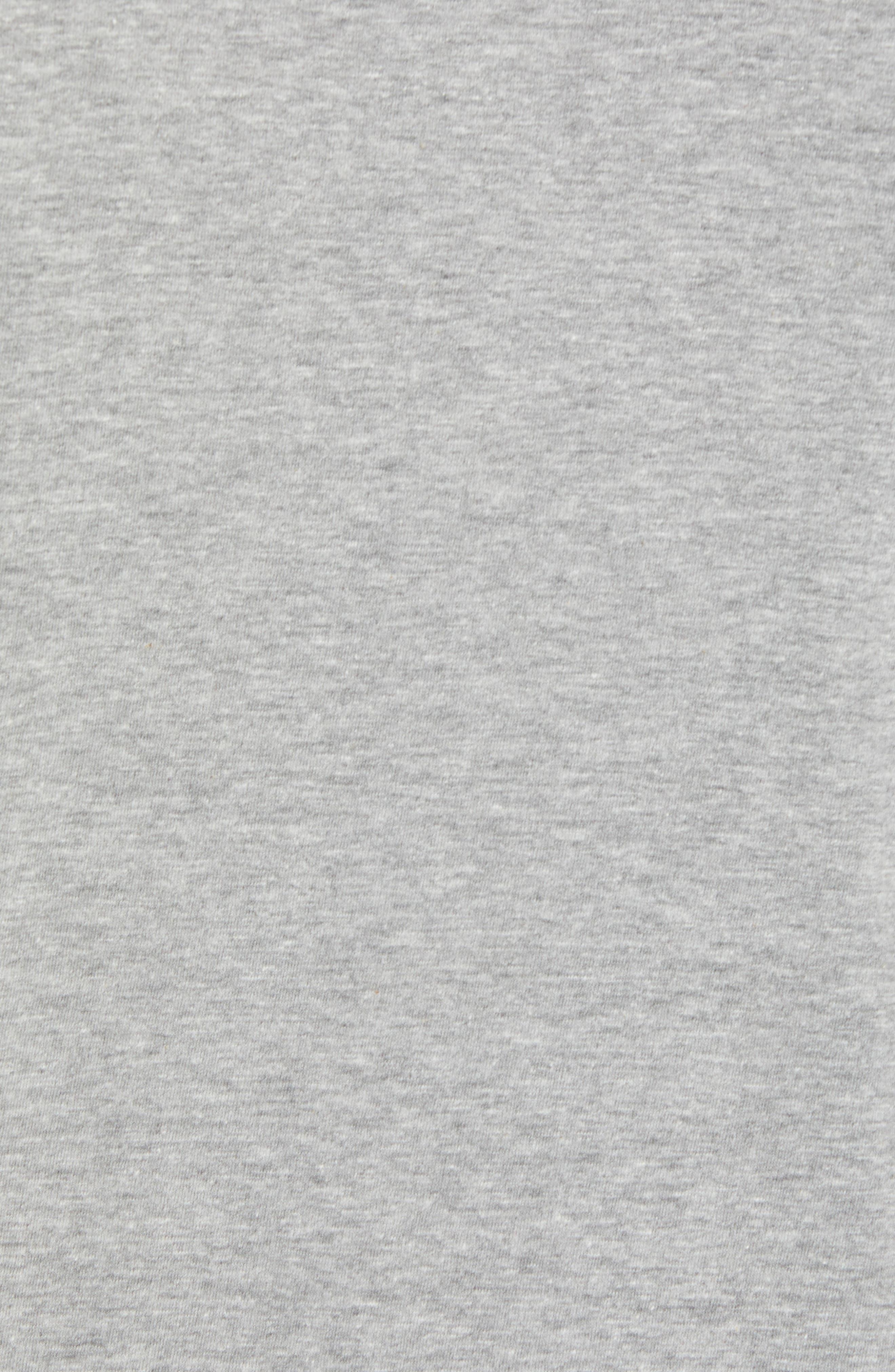Sportswear More Money T-Shirt,                             Alternate thumbnail 5, color,                             DK GREY HEATHER/ BLACK