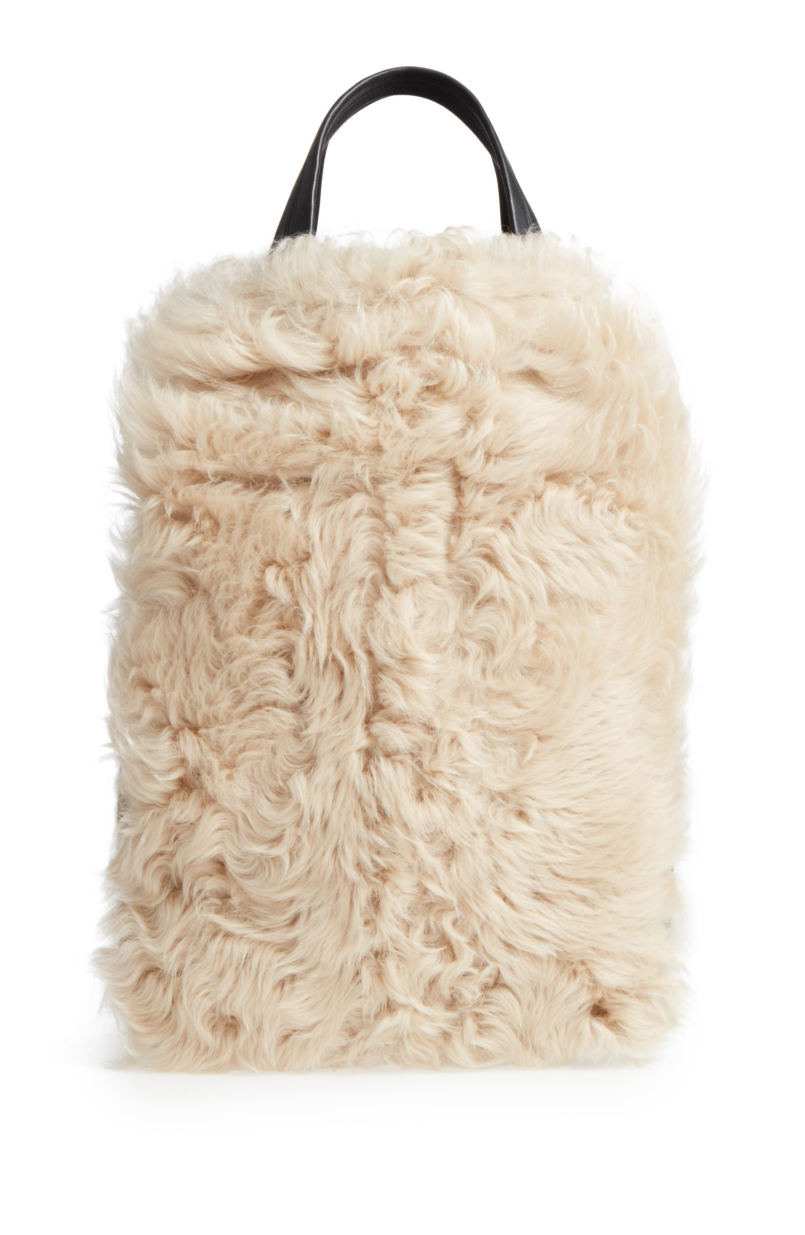 Walker Convertible Genuine Shearling & Suede Tote,                             Alternate thumbnail 2, color,                             900