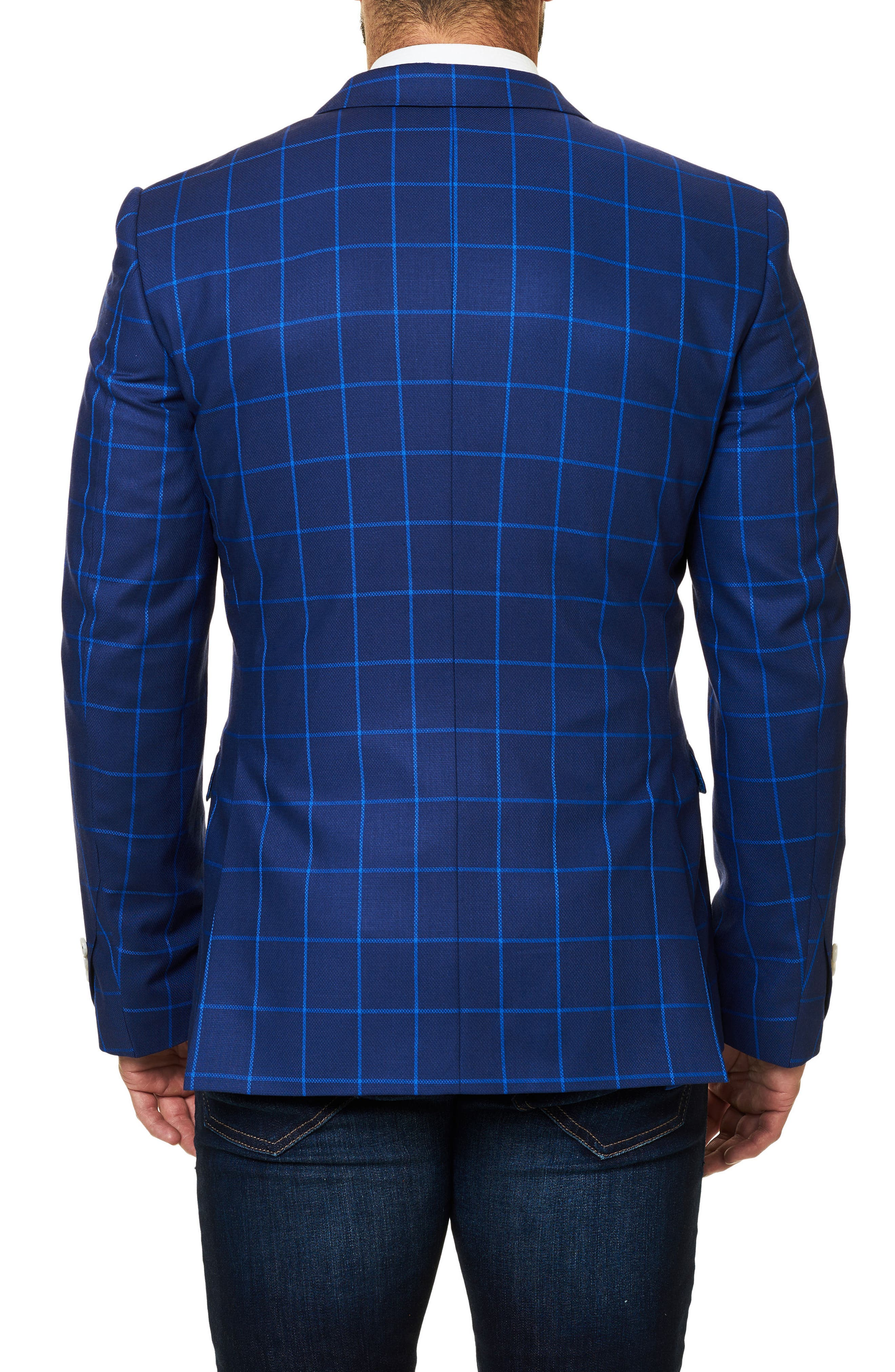 Descarte Windowpane Sport Coat,                             Alternate thumbnail 2, color,                             420