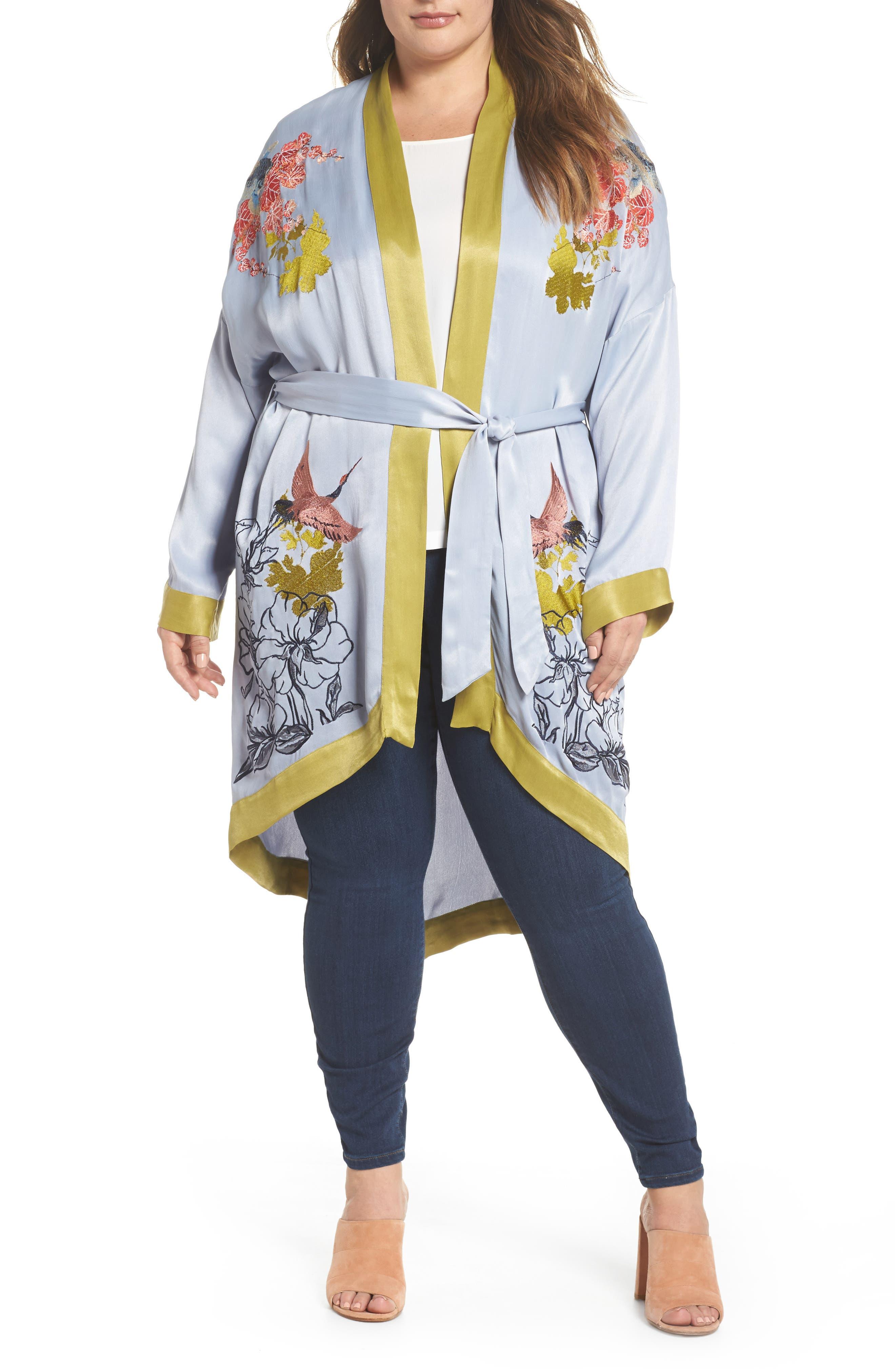 Embroidered Kimono,                         Main,                         color,