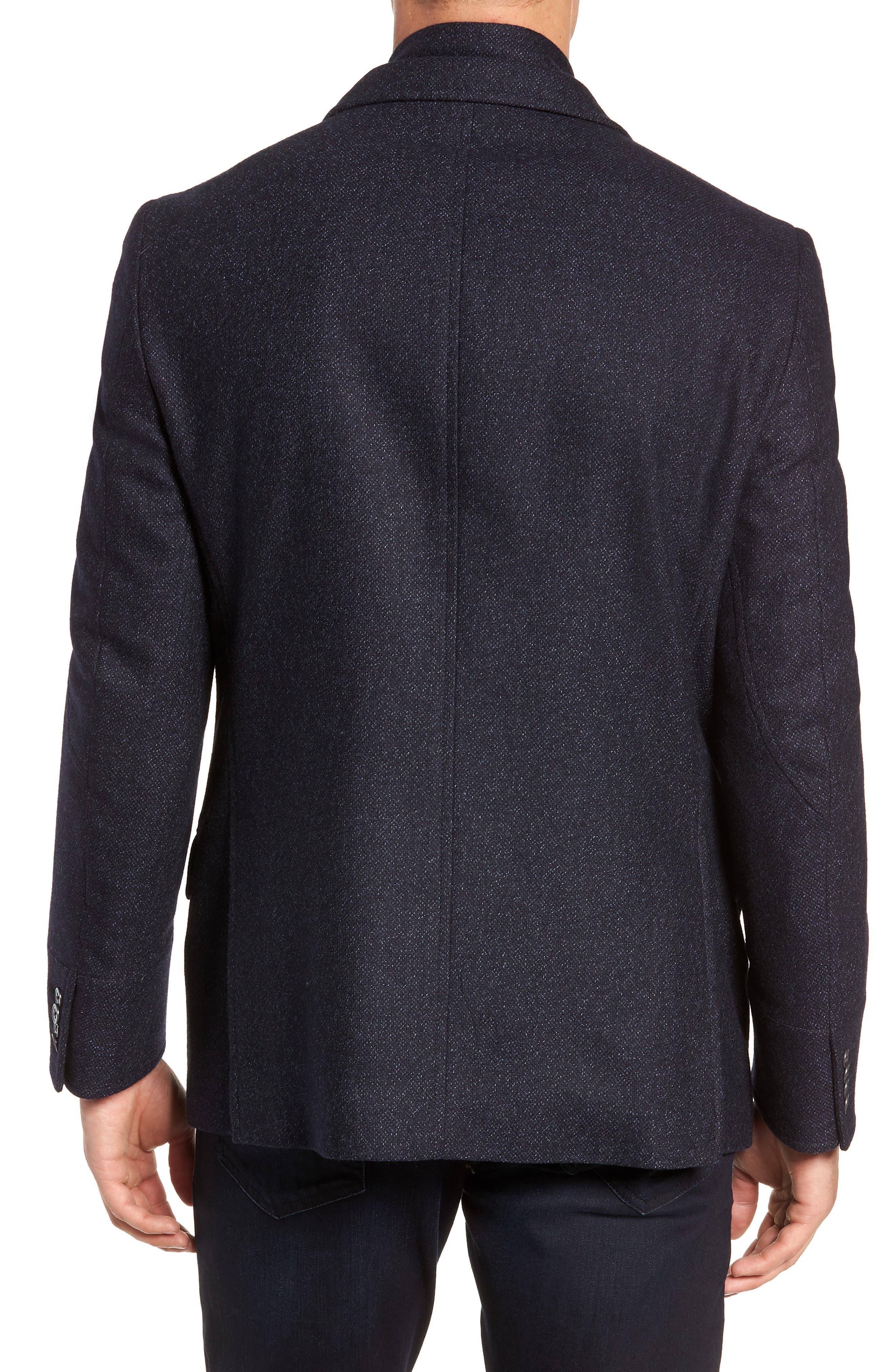 Hybrid Wool & Cashmere Sport Coat,                             Alternate thumbnail 2, color,                             BLUE