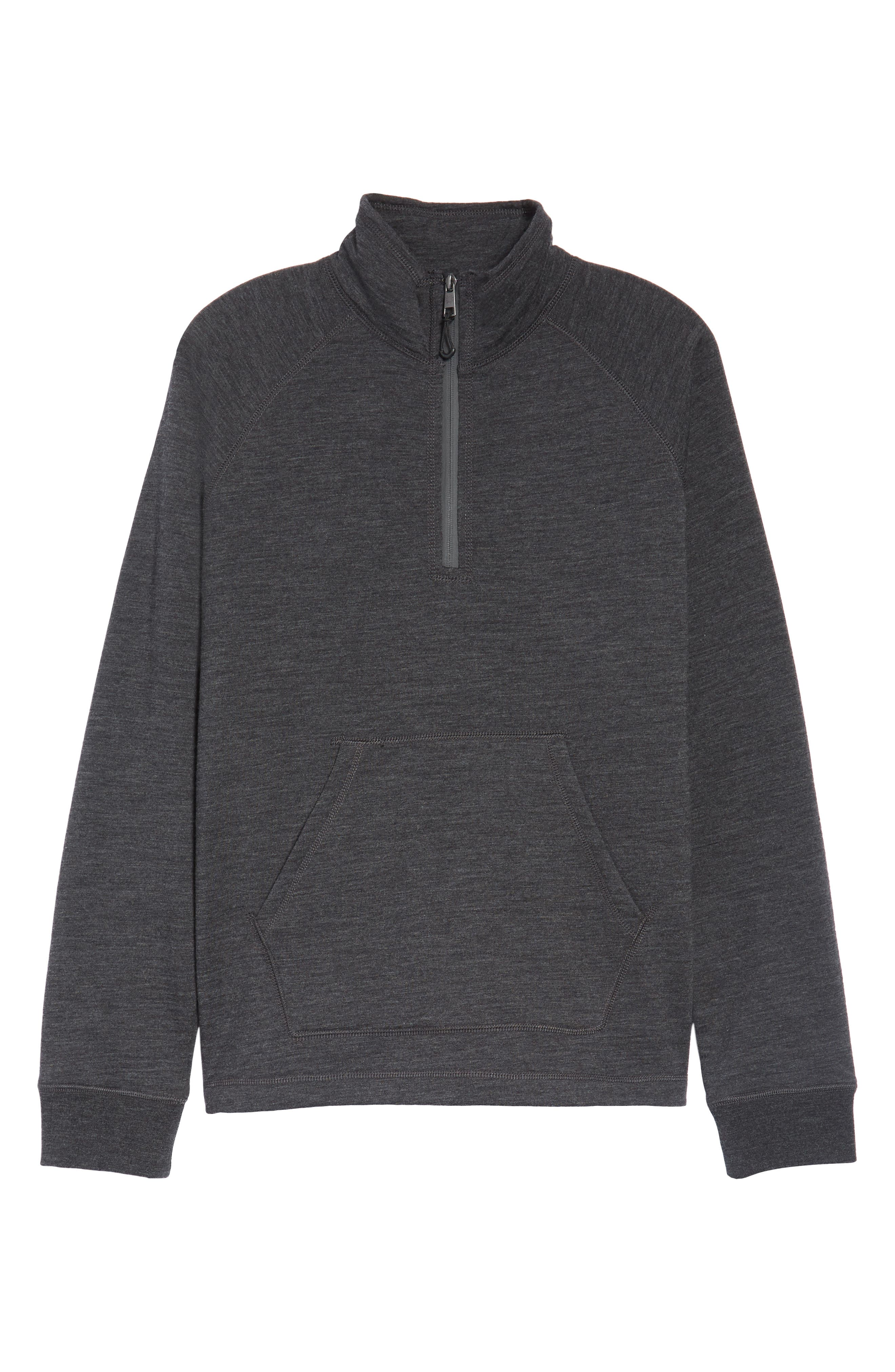 Merino Wool Quarter Zip Pullover,                             Alternate thumbnail 6, color,                             010
