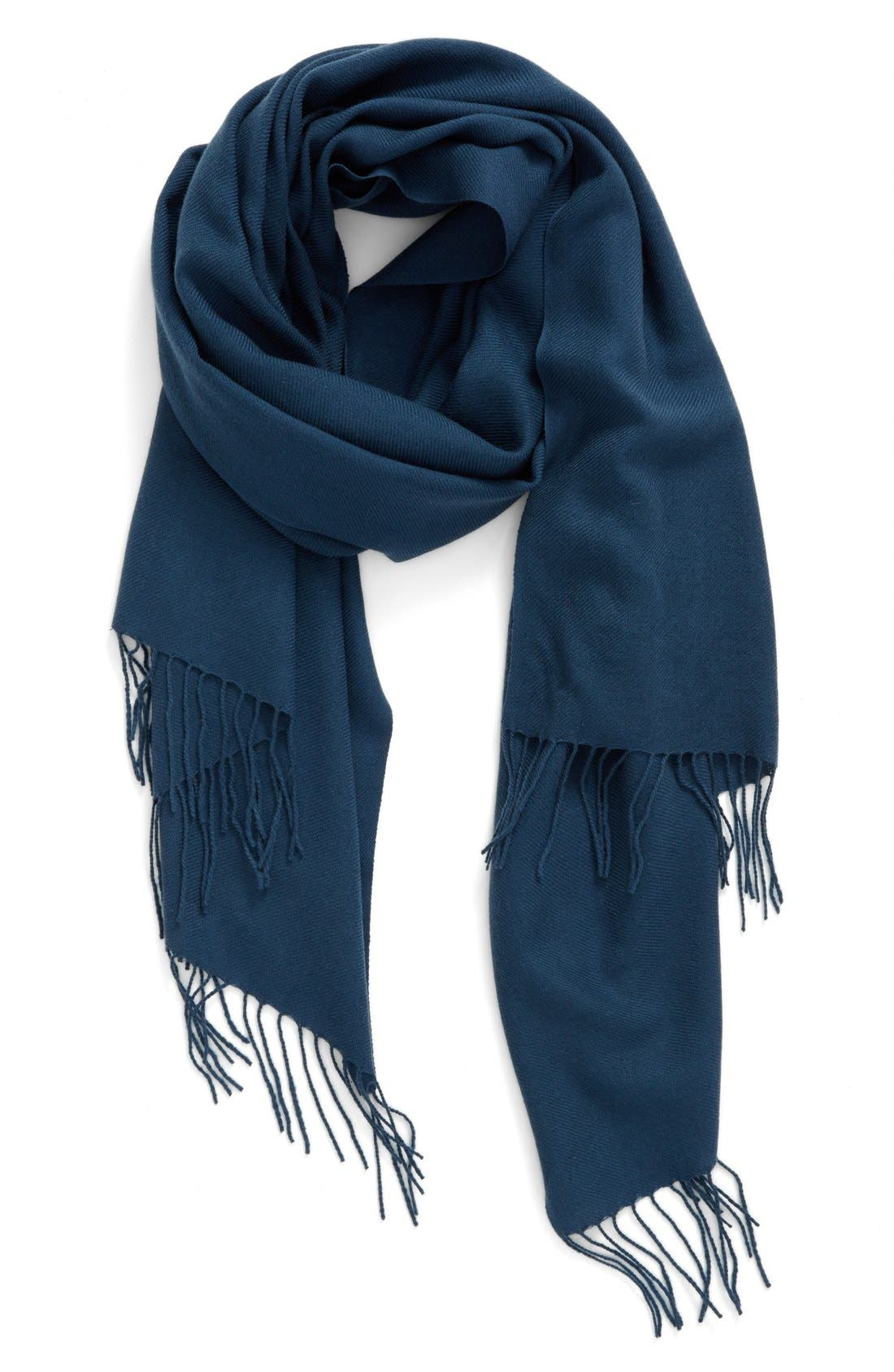 Tissue Weight Wool & Cashmere Scarf,                             Main thumbnail 34, color,