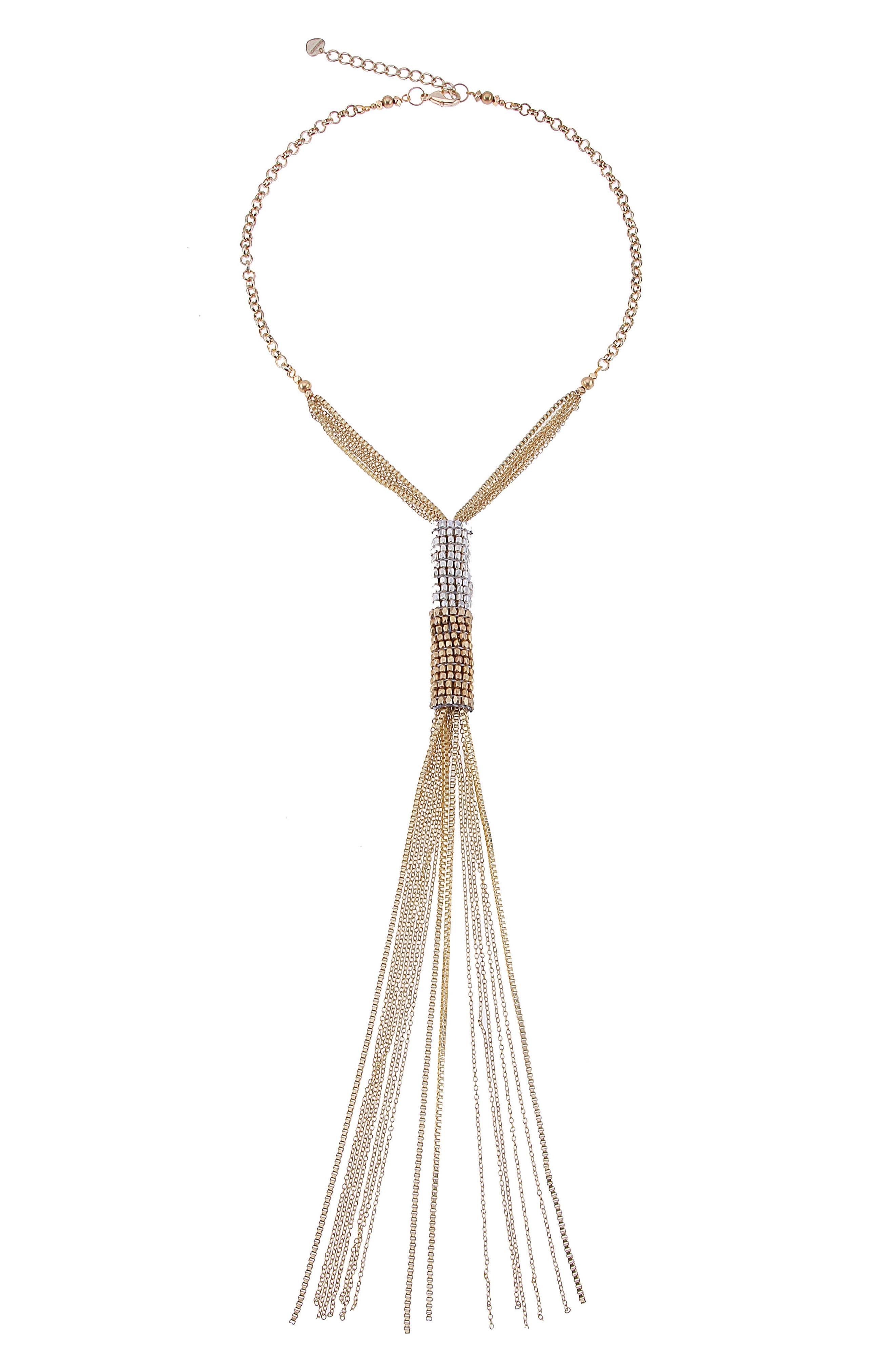 Chain Y-Necklace,                         Main,                         color, 710